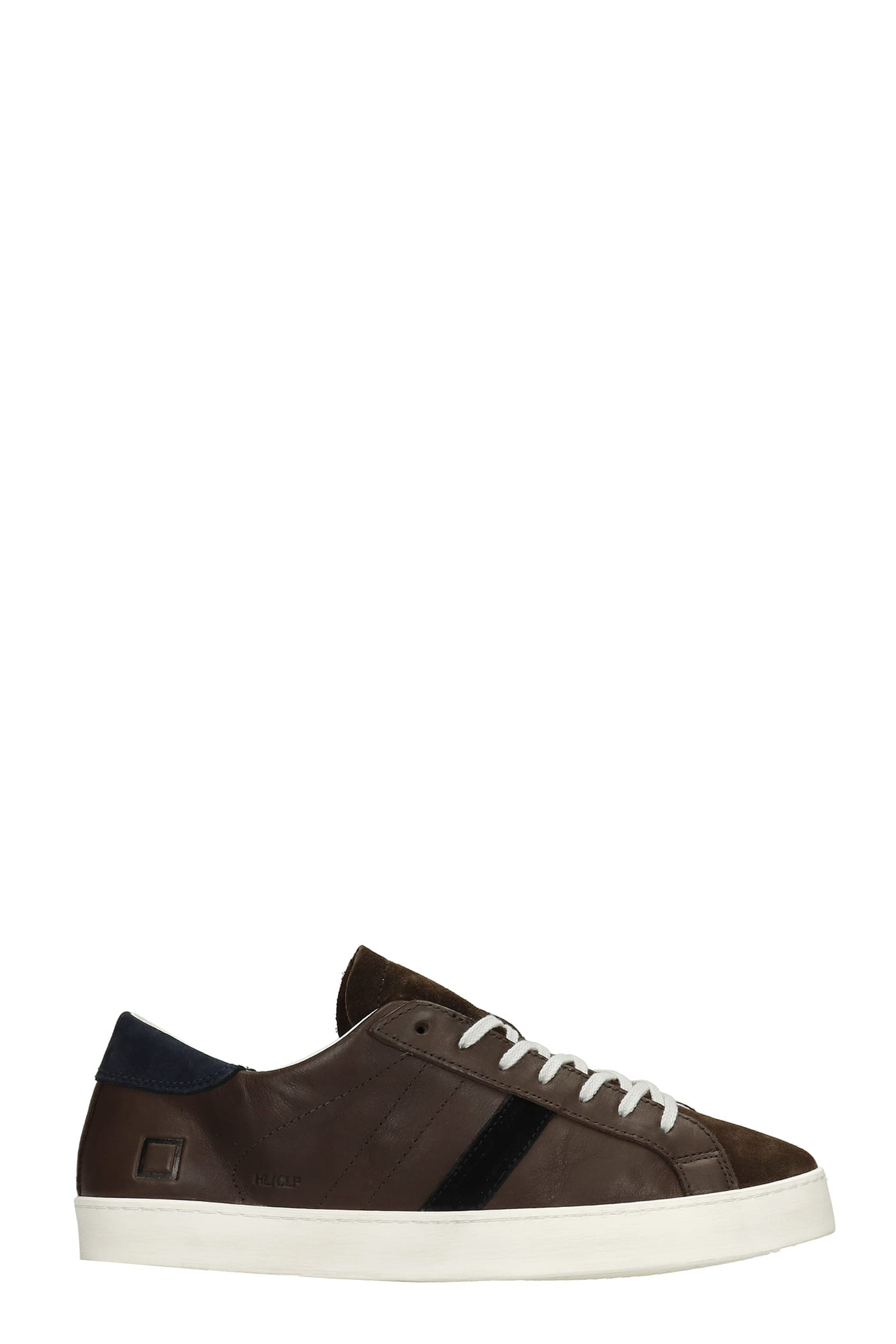 Hill Low Sneakers In Dark Brown Leather