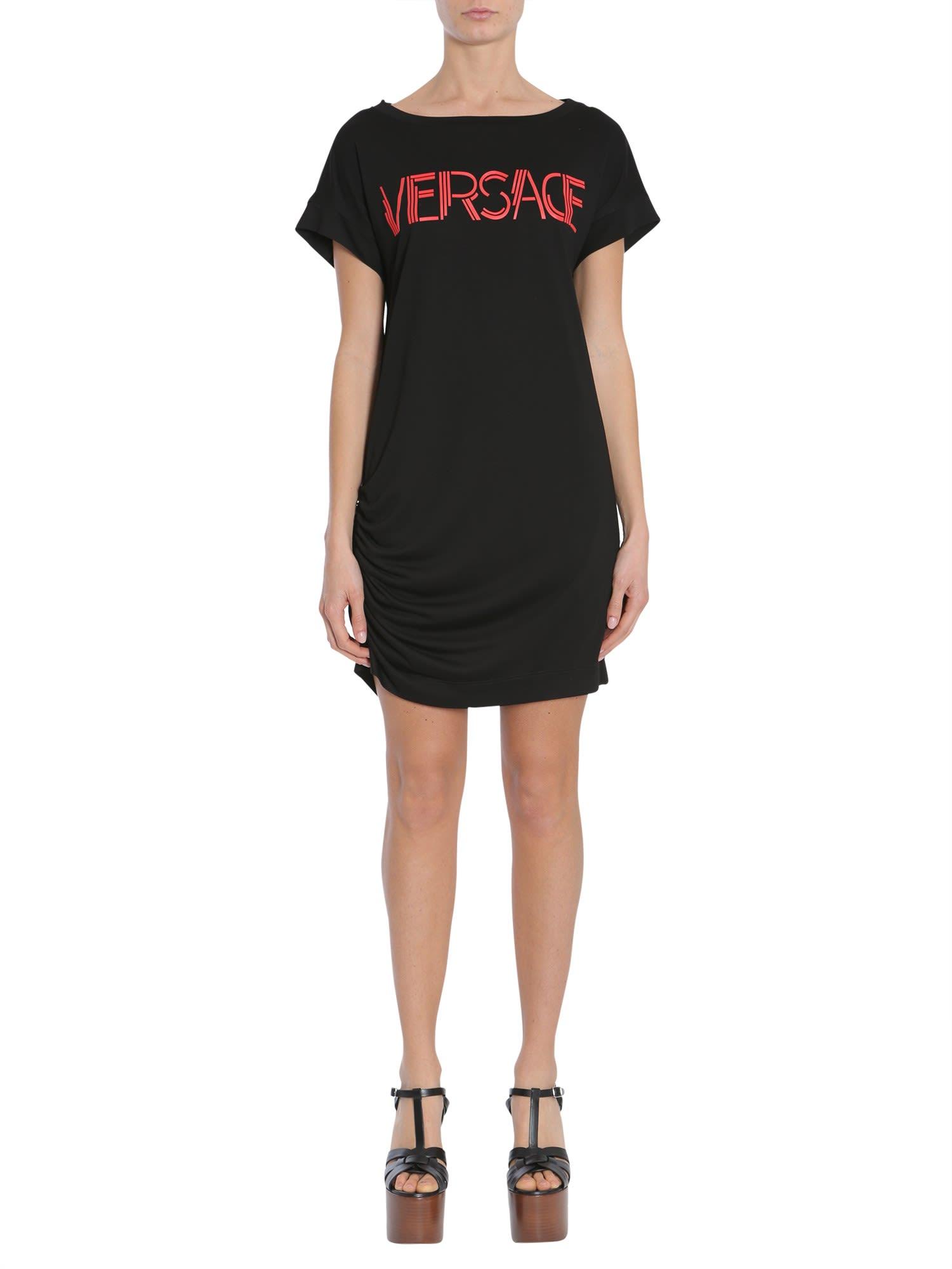 Versace T-shirt Dress With Logo