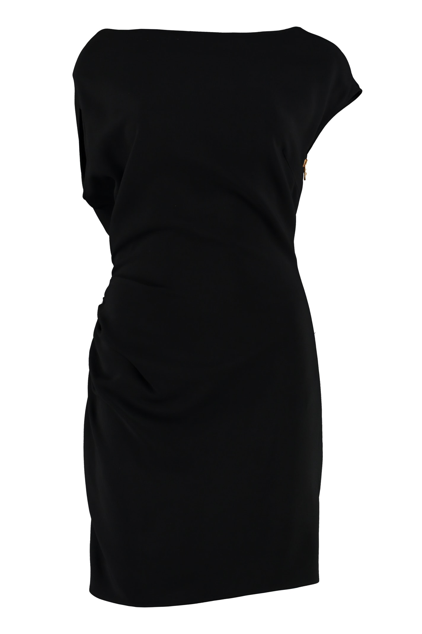 Versace Draped Sheath Dress