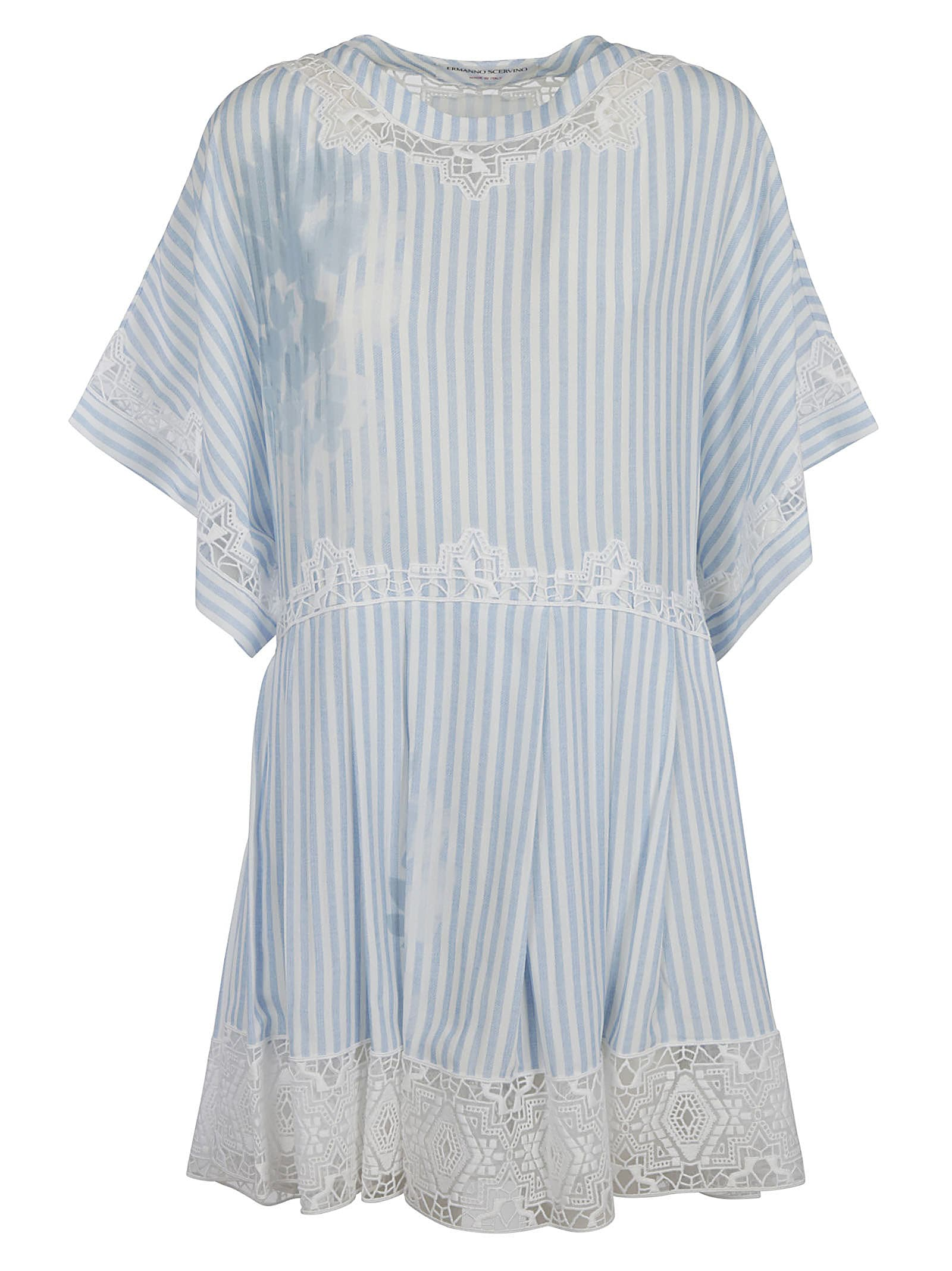 Ermanno Scervino Stripe Lace Dress