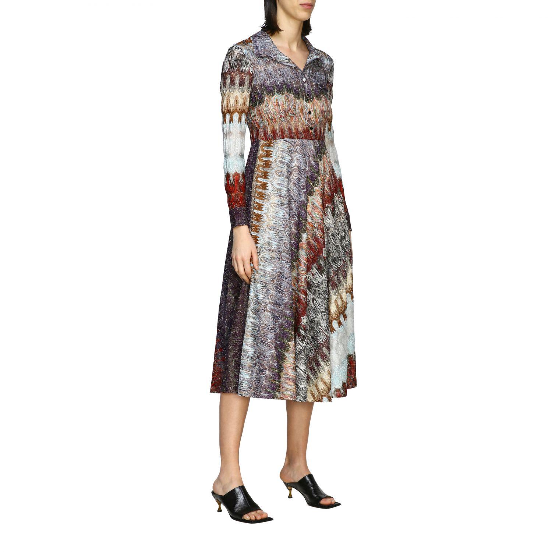Buy Missoni Dress Missoni Shirt Dress In Lurex Jacquard online, shop Missoni with free shipping