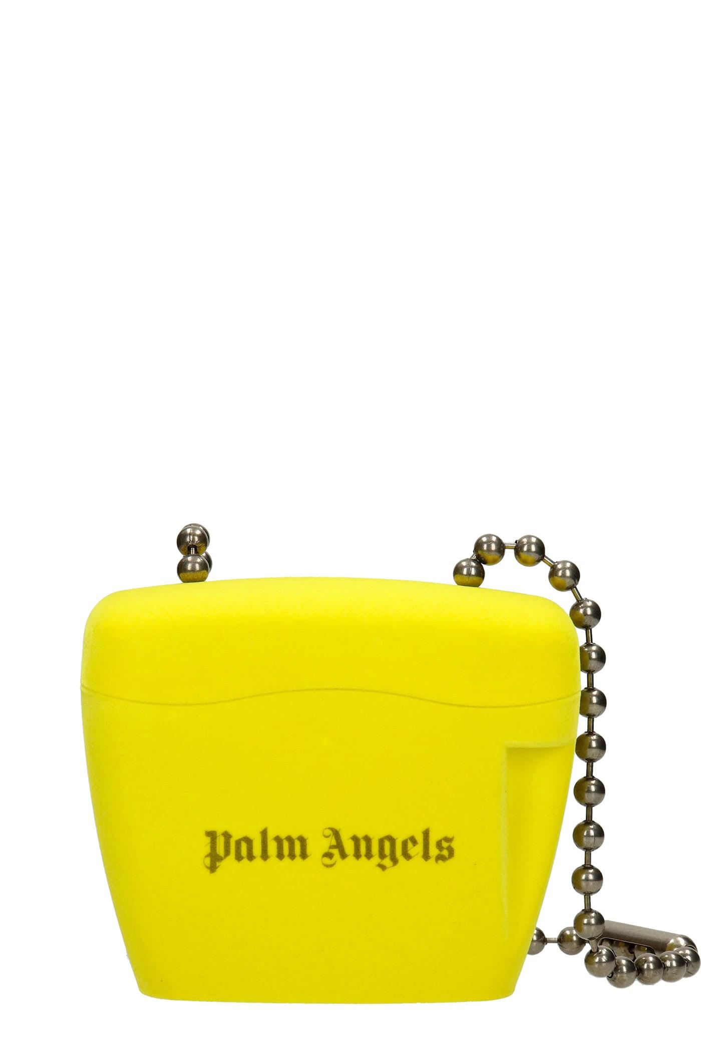 Palm Angels Shoulder Bag In Yellow Polypropylene
