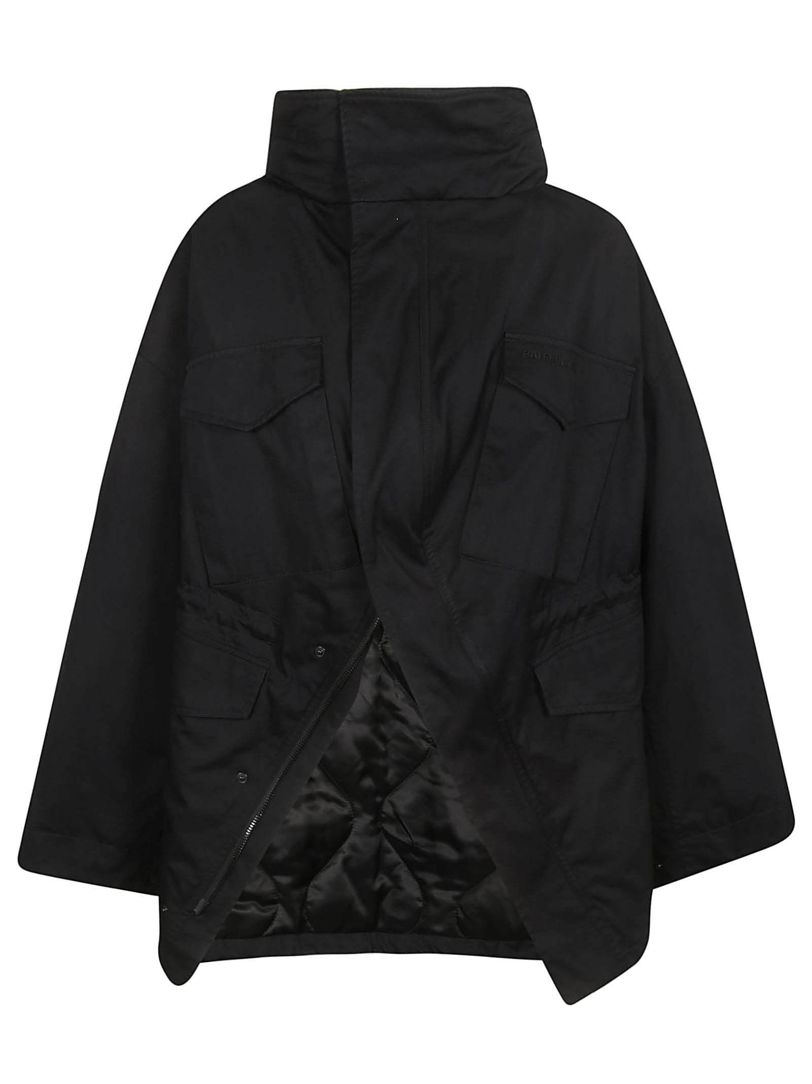 Balenciaga Funnel Neck Cape