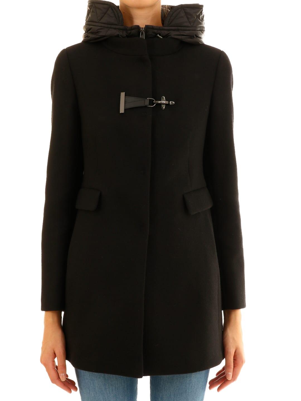 Fay Toggle Coat Black