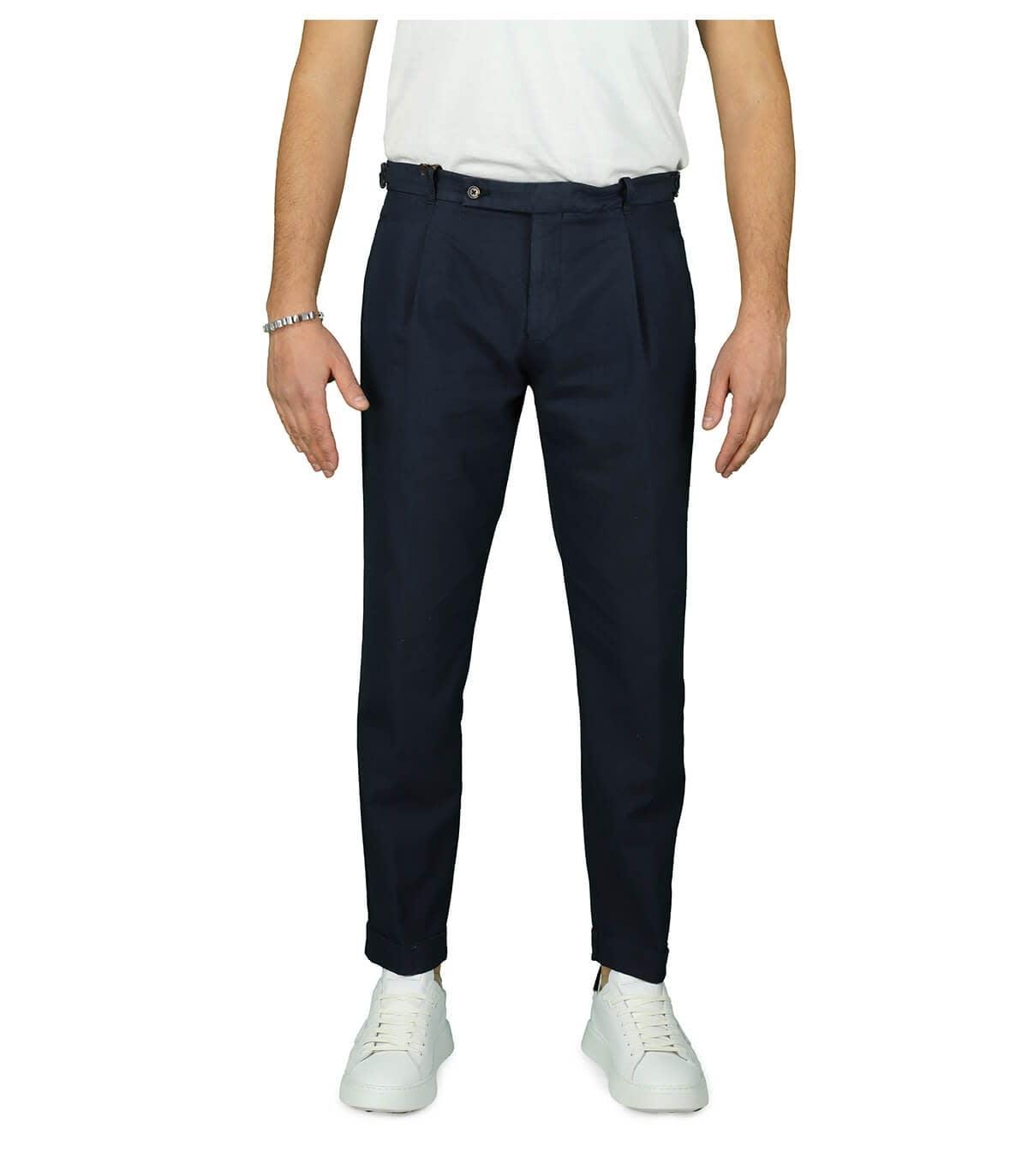 Retro Dark Blue Chino Trousers