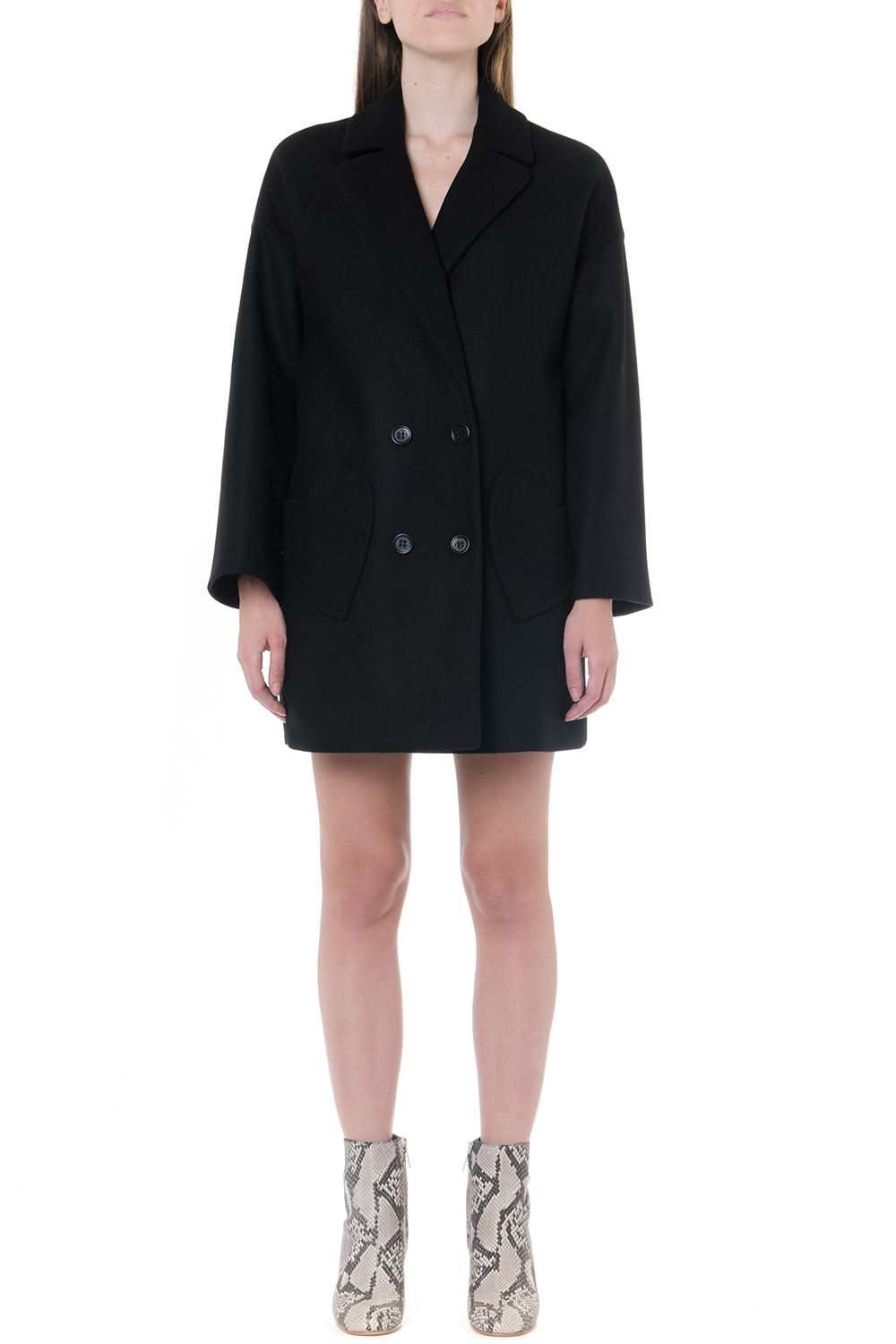RED Valentino Wool-cashmere Blend Oversized Double Breasted Coat