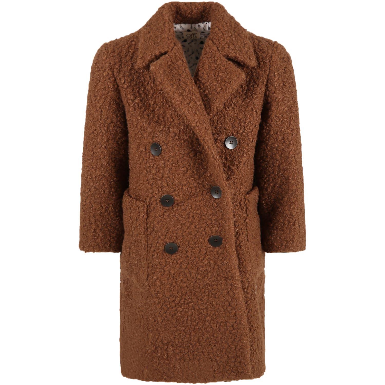Caffe dOrzo Brown gioia Coat For Girl
