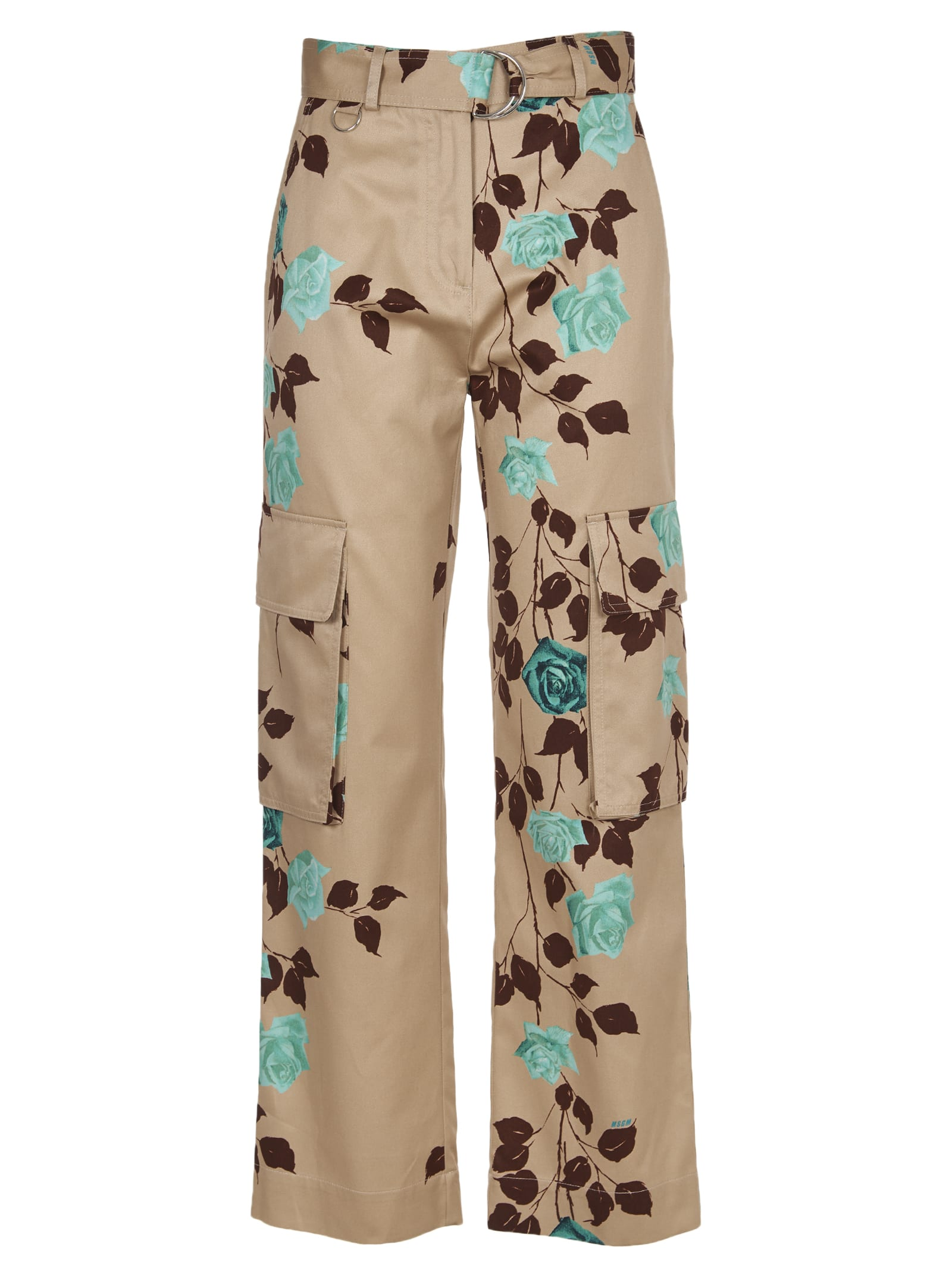 MSGM Floral Cargo Trousers