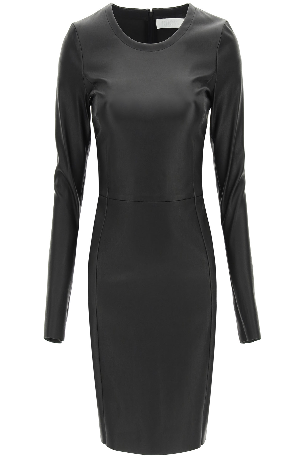 Buy DROMe Leather Mini Dress online, shop DROMe with free shipping