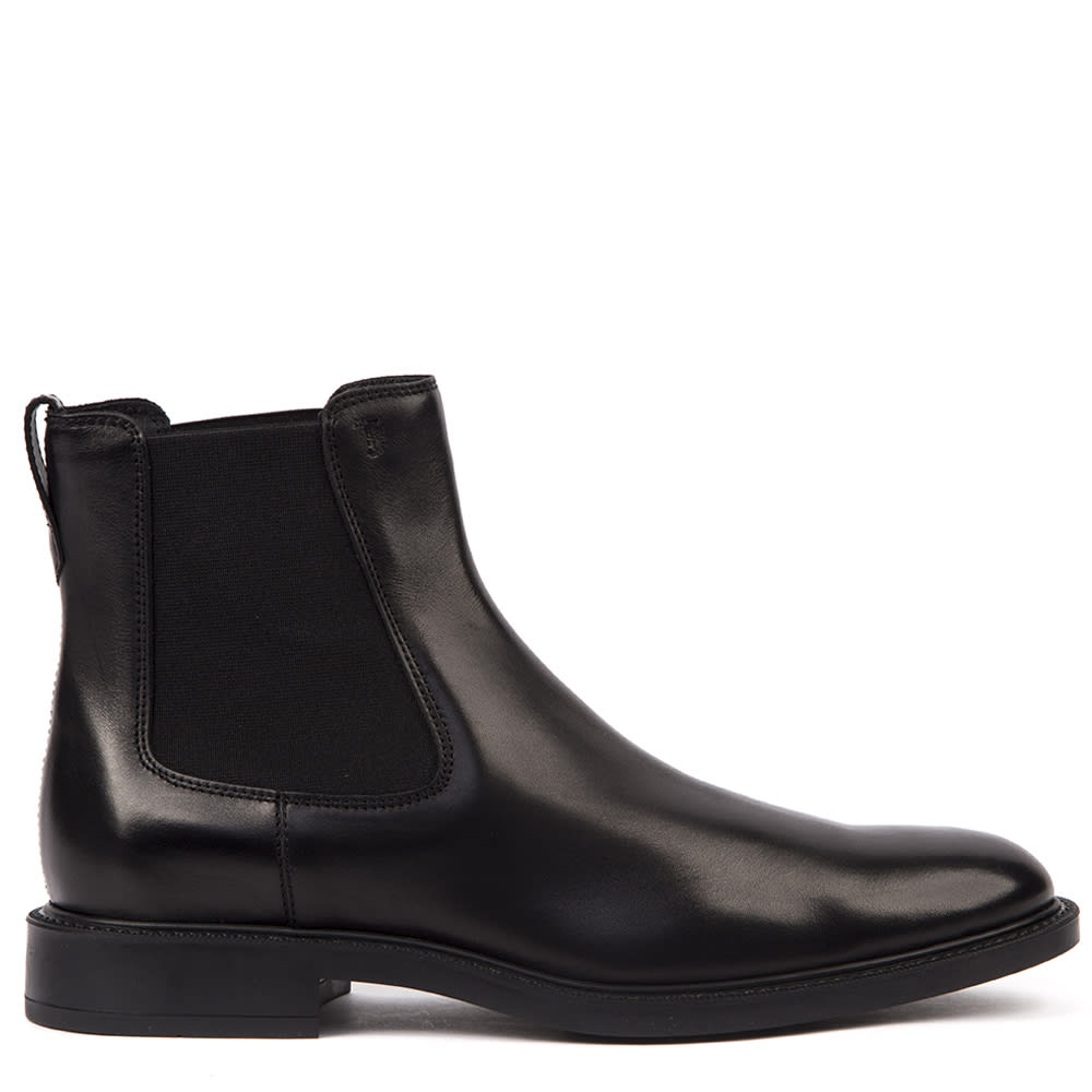 Tods Black Leather Ankle Boots