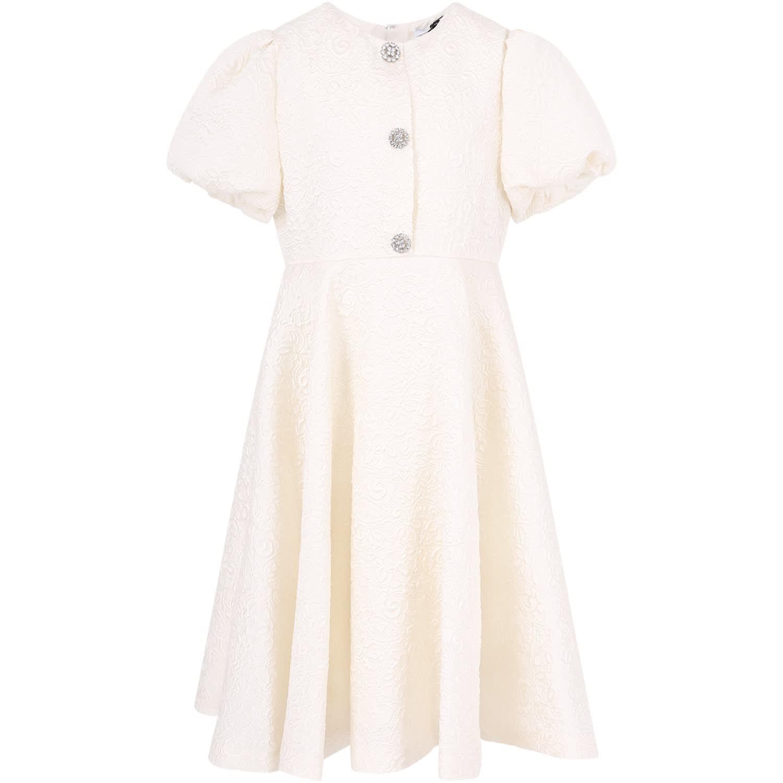 Dolce & Gabbana Ivory Elegant Girl Dress