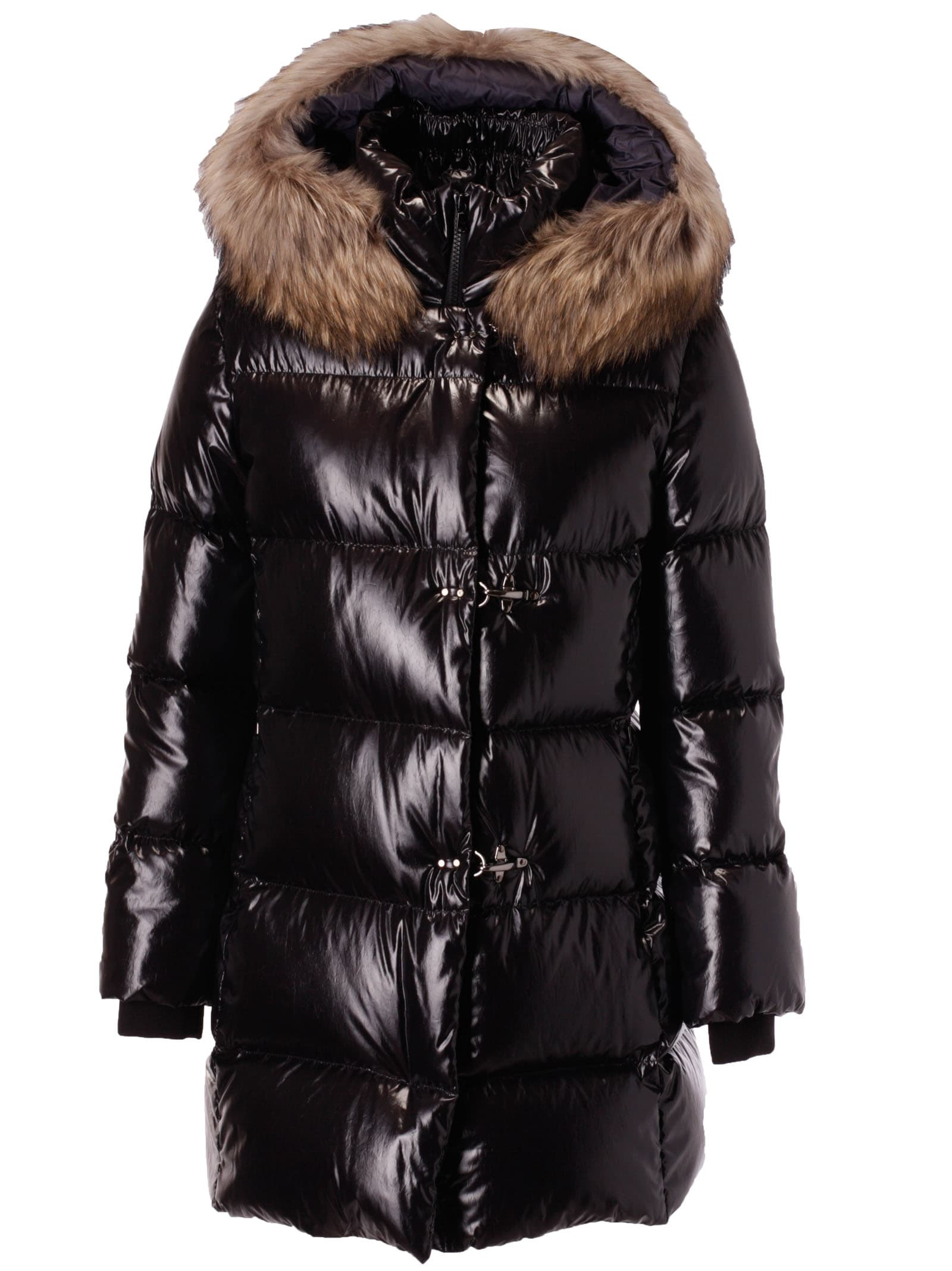 Fay Fur Detail Padded Coat