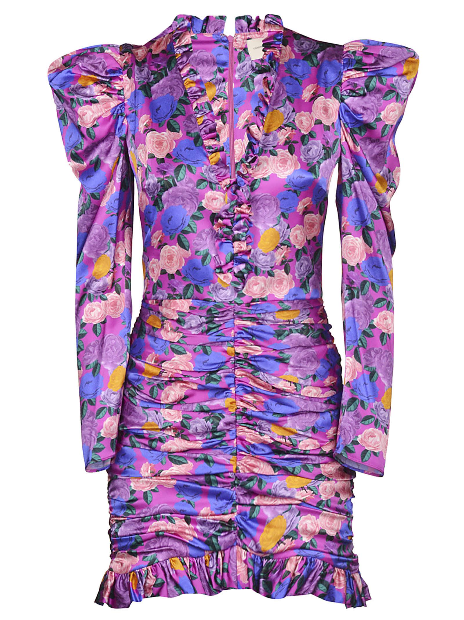 Buy Giuseppe di Morabito Floral Print Ruffled V-neck Dress online, shop Giuseppe di Morabito with free shipping