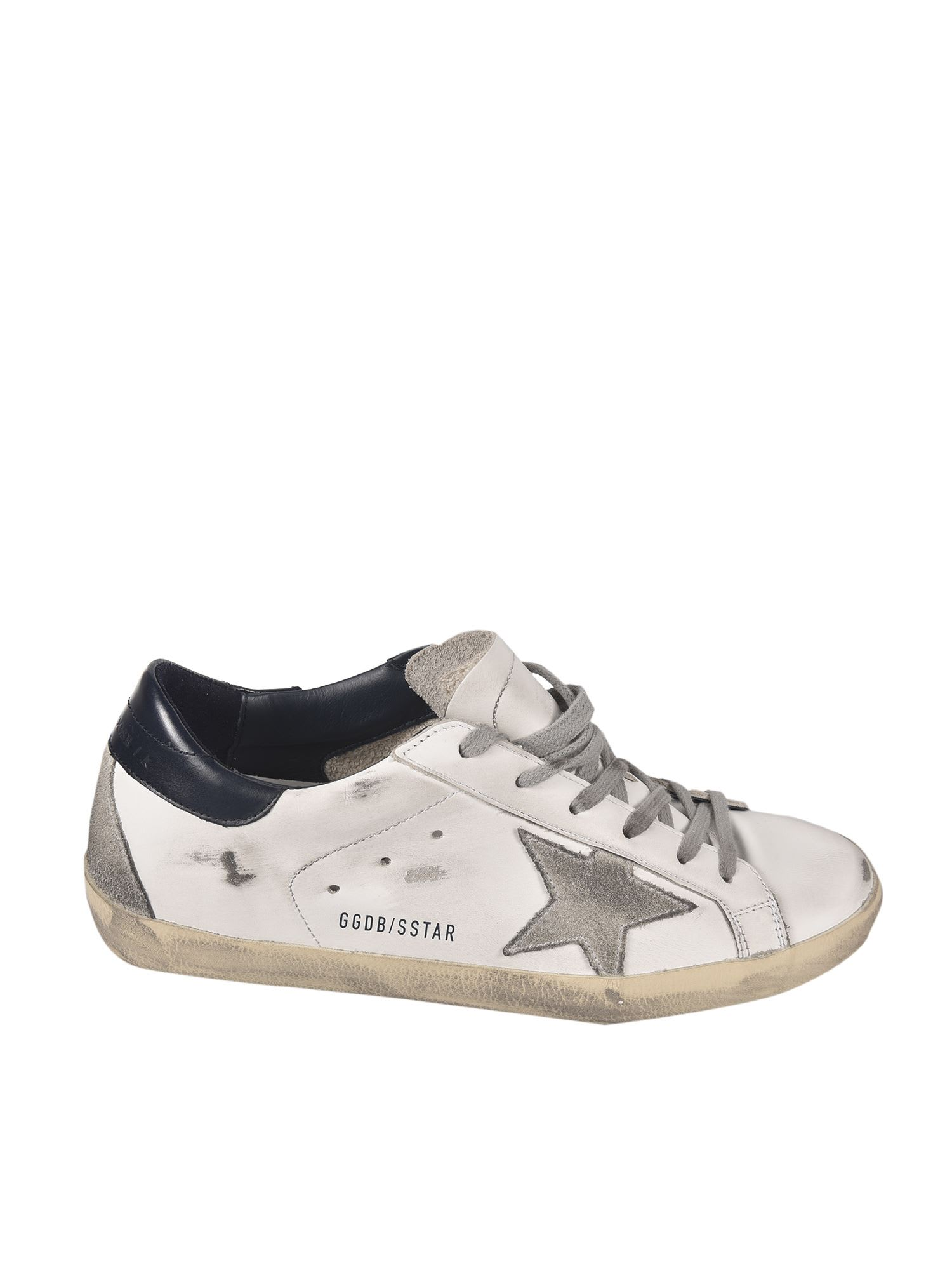 Buy Golden Goose Super Star Sneaker online, shop Golden Goose shoes with free shipping