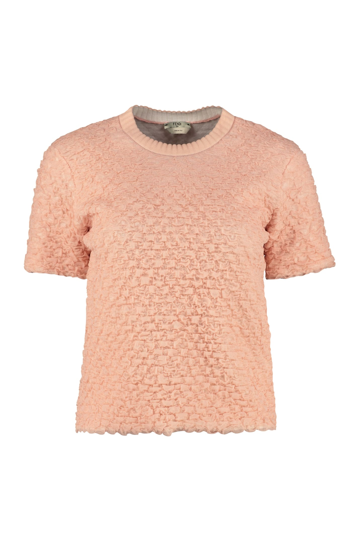 Fendi Embossed Knit Sweater