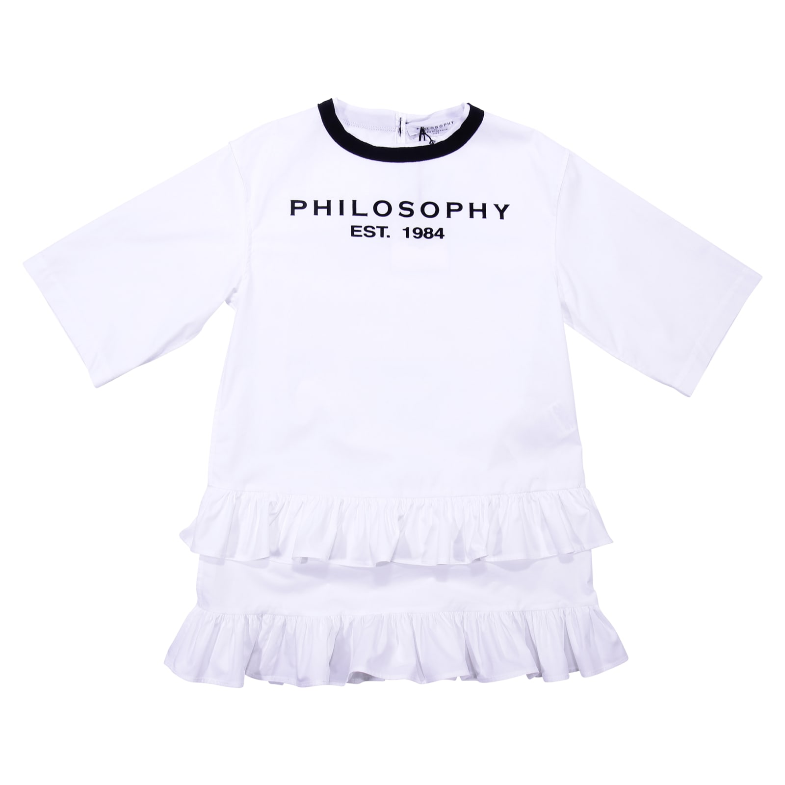 Philosophy di Lorenzo Serafini White Cotton Poplin Dress