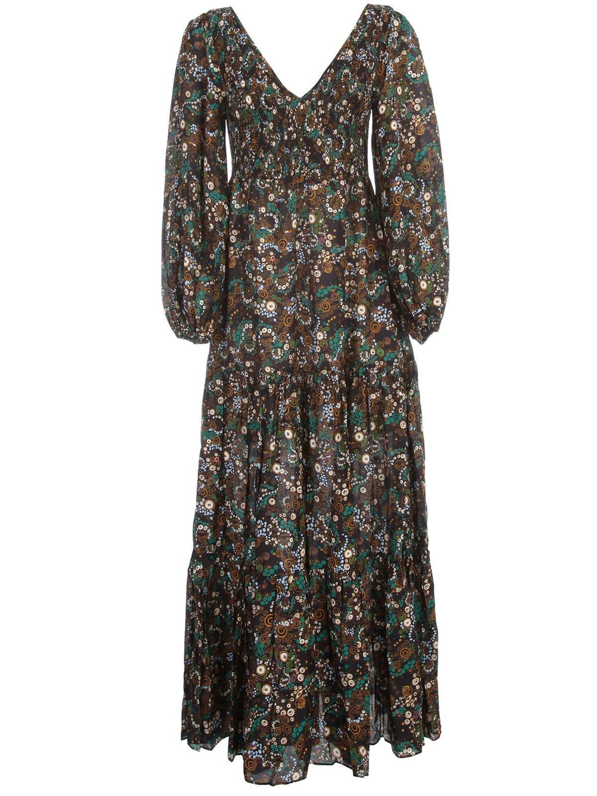 Buy RIXO Dress L/s V Neck Midi online, shop RIXO with free shipping