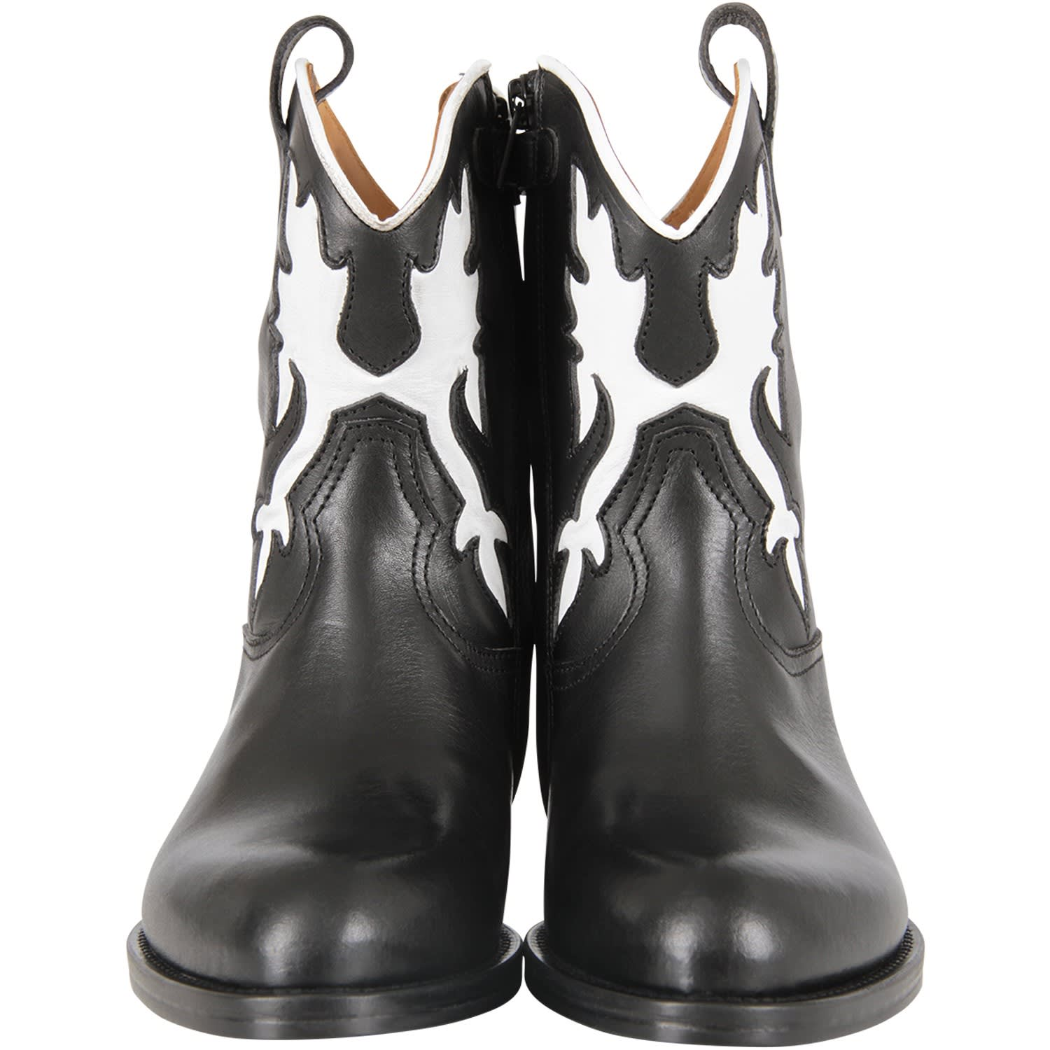 Best price on the market at italist | Gallucci Gallucci Black Kids Boots With Crocodile Print