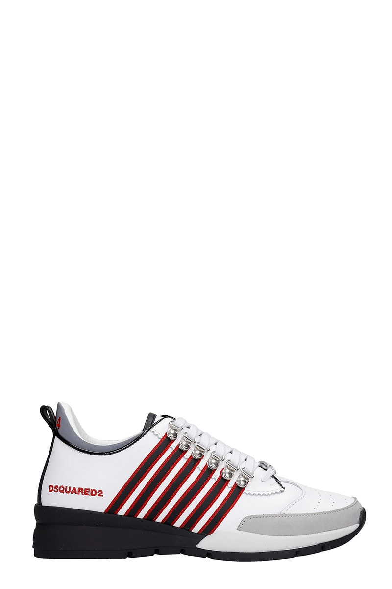 Dsquared2 251 SNEAKERS IN WHITE LEATHER