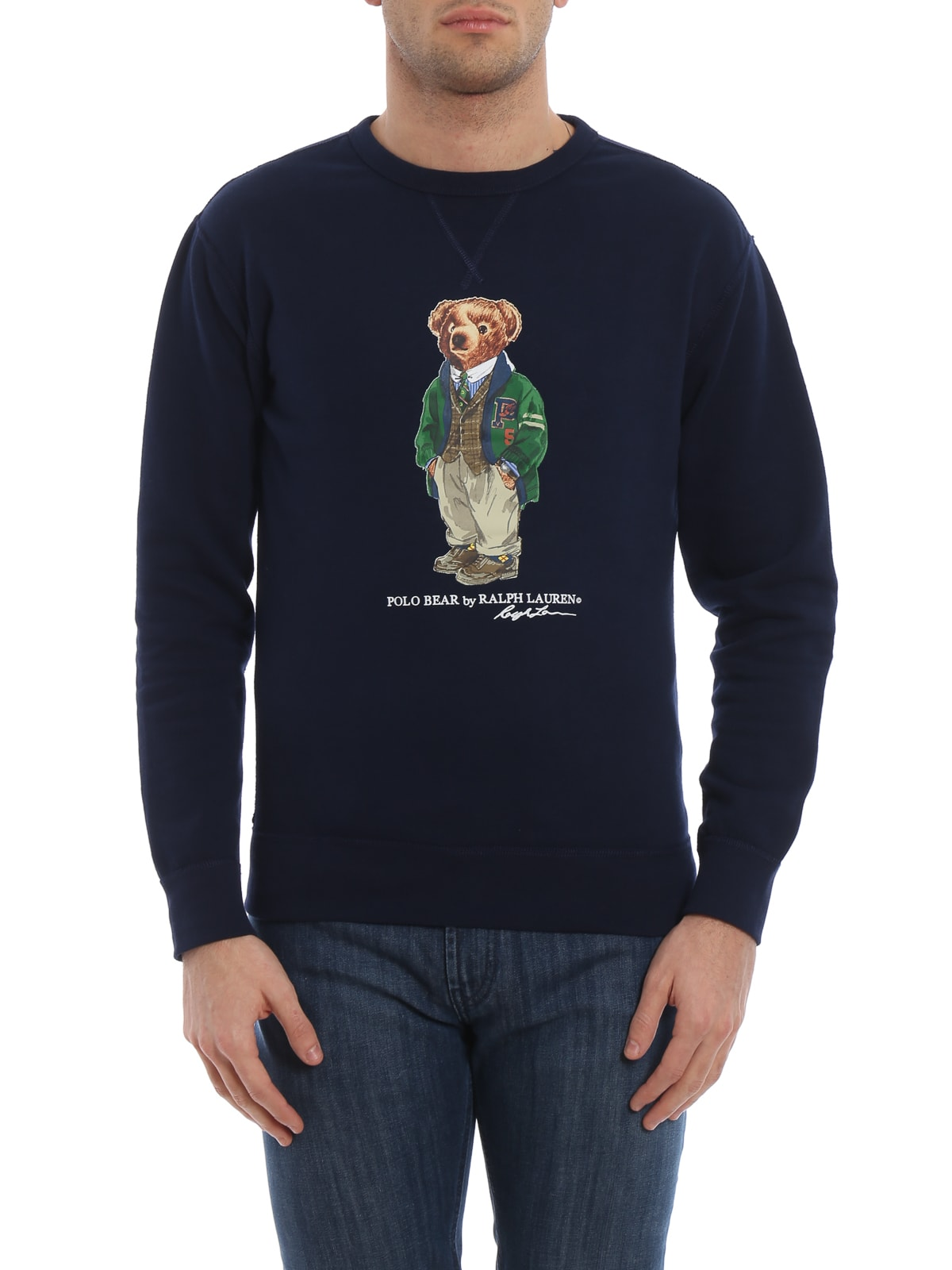 Sweatshirt Polo Ralph Bear Blue Lauren 1cKlJF