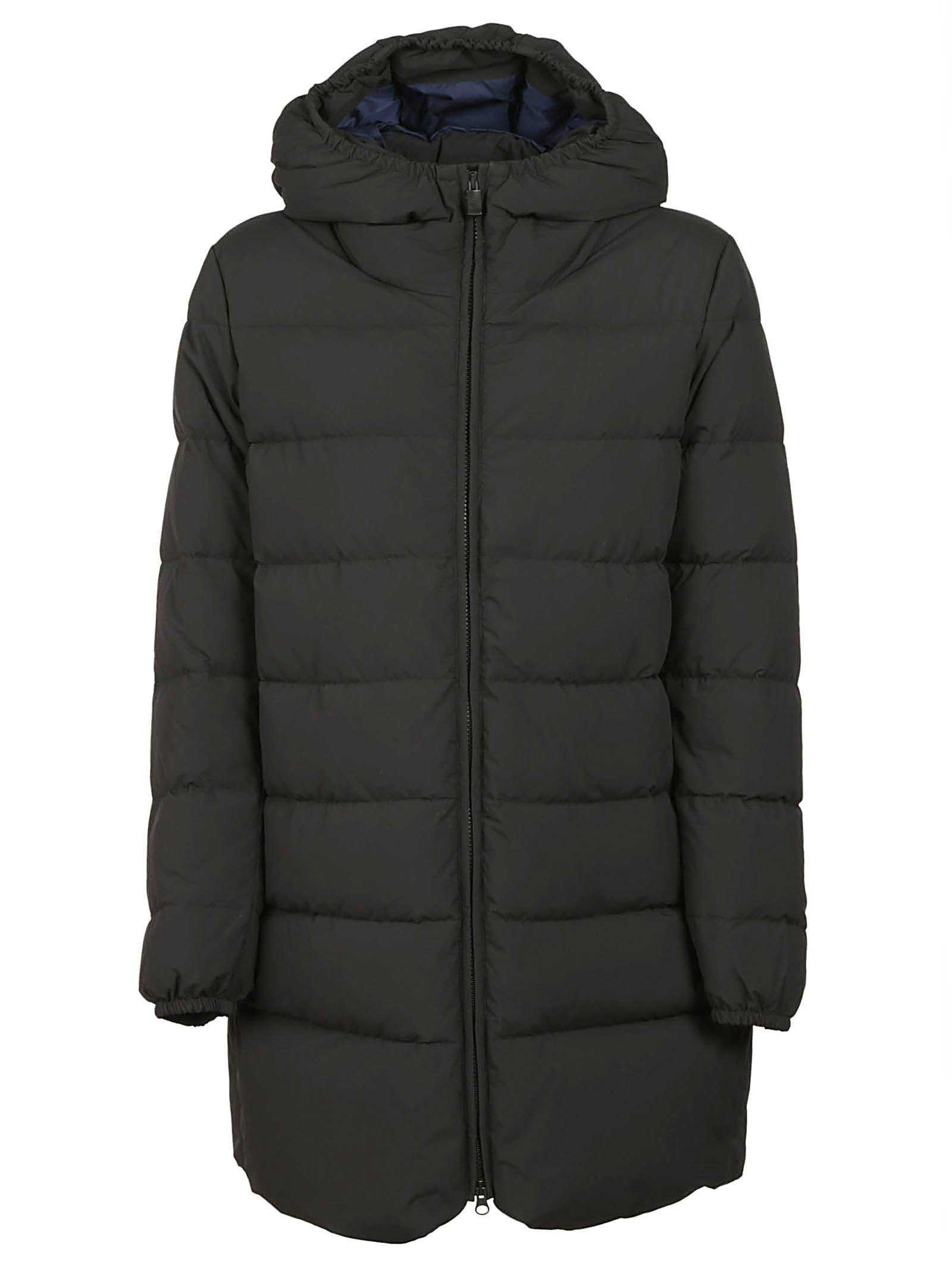 Aspesi Hooded Long Padded Jacket