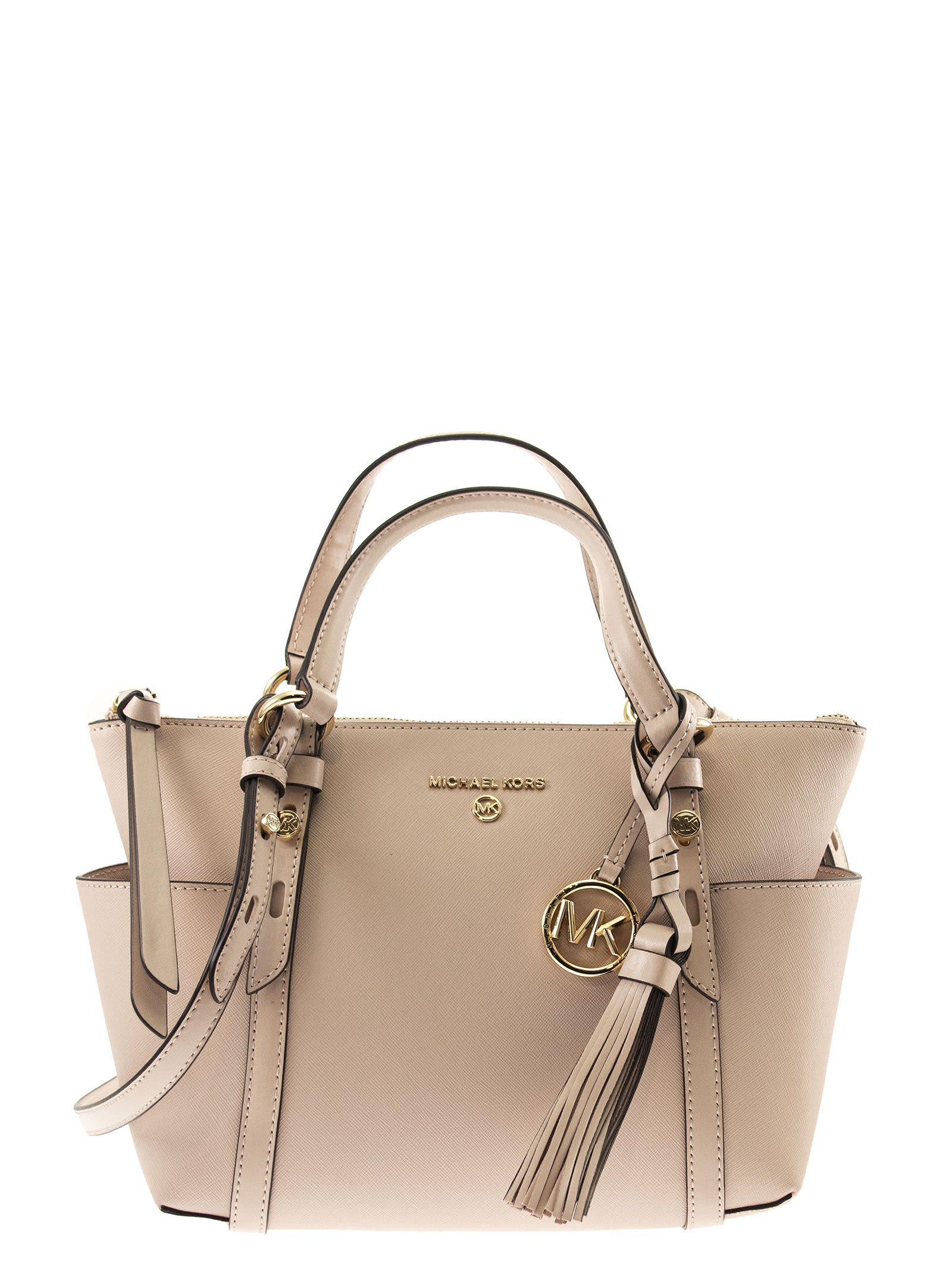 Michael Kors NOMAD SAFFIANO LEATHER TOP-ZIP TOTE BAG
