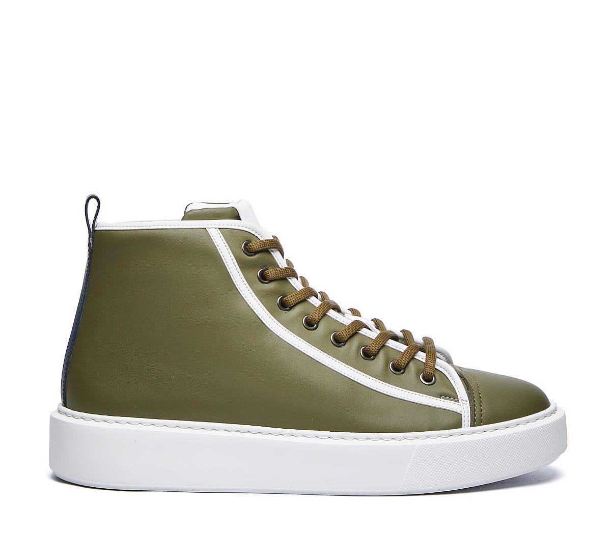 Barracuda Basket Sneaker In Verde Militare/bianco