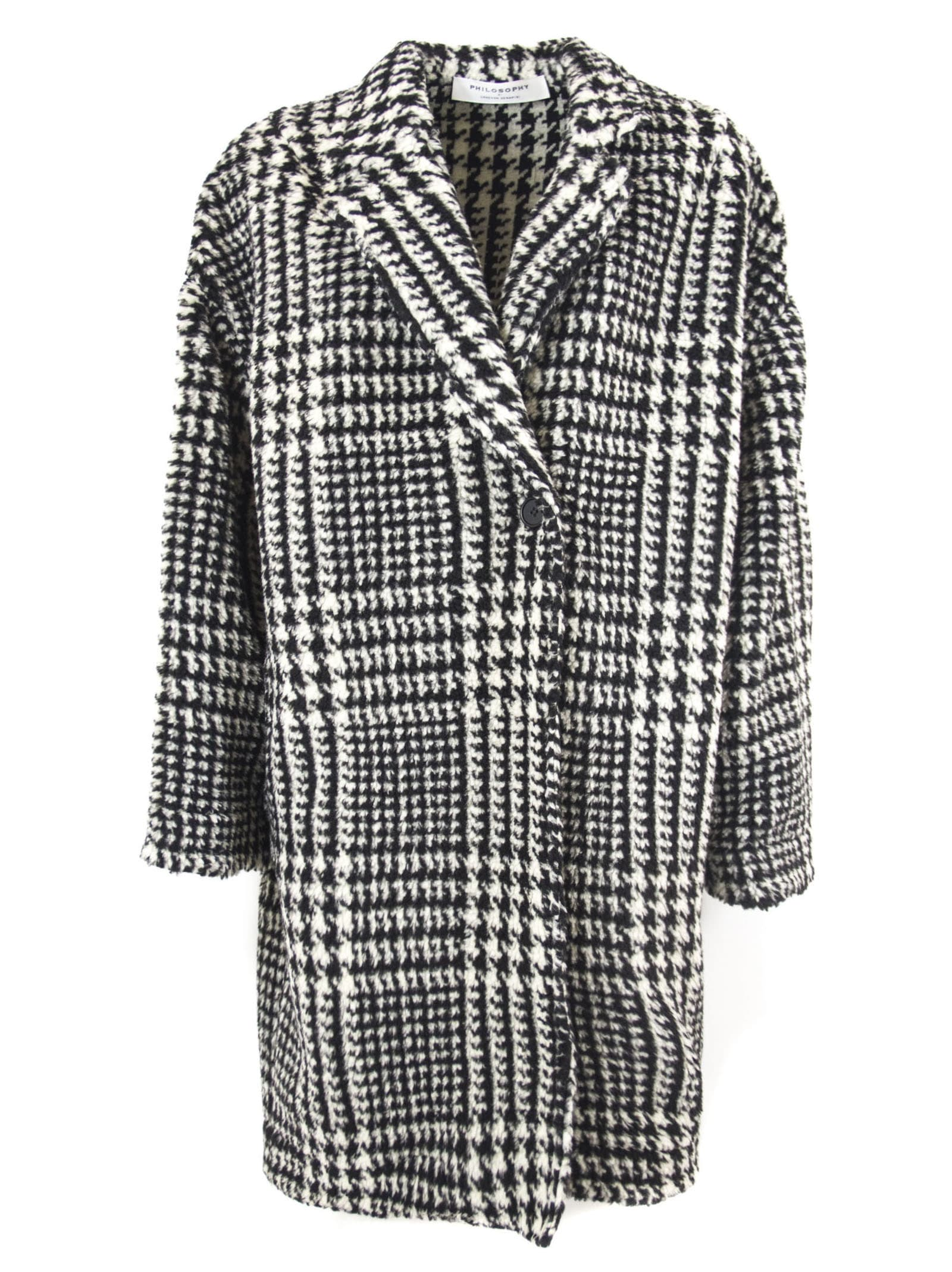 Philosophy di Lorenzo Serafini Coat With Check Motif