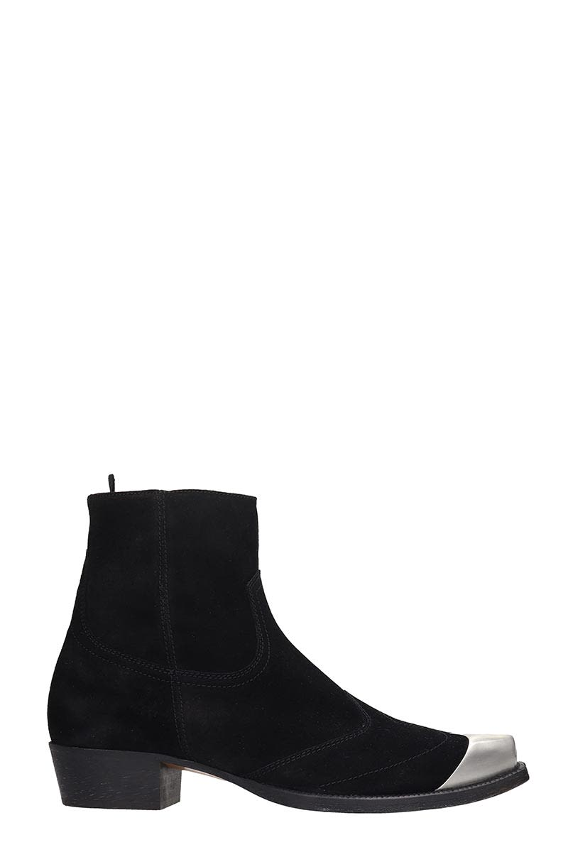 REPRESENT Strapped Boot High Heels Ankle Boots In Black Leather