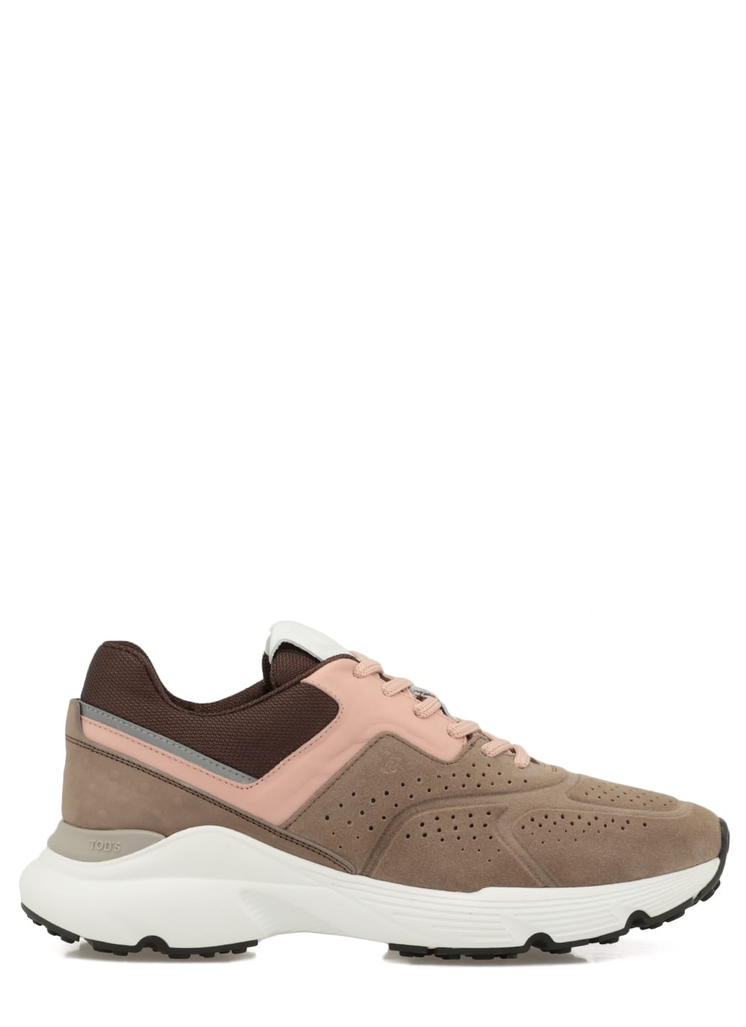 Tods Leather And Fabric Sneaker