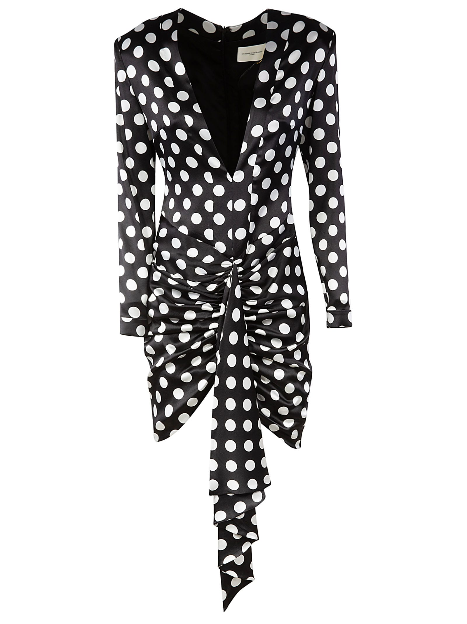 Buy Giuseppe di Morabito Dotted Draped Short Dress online, shop Giuseppe di Morabito with free shipping