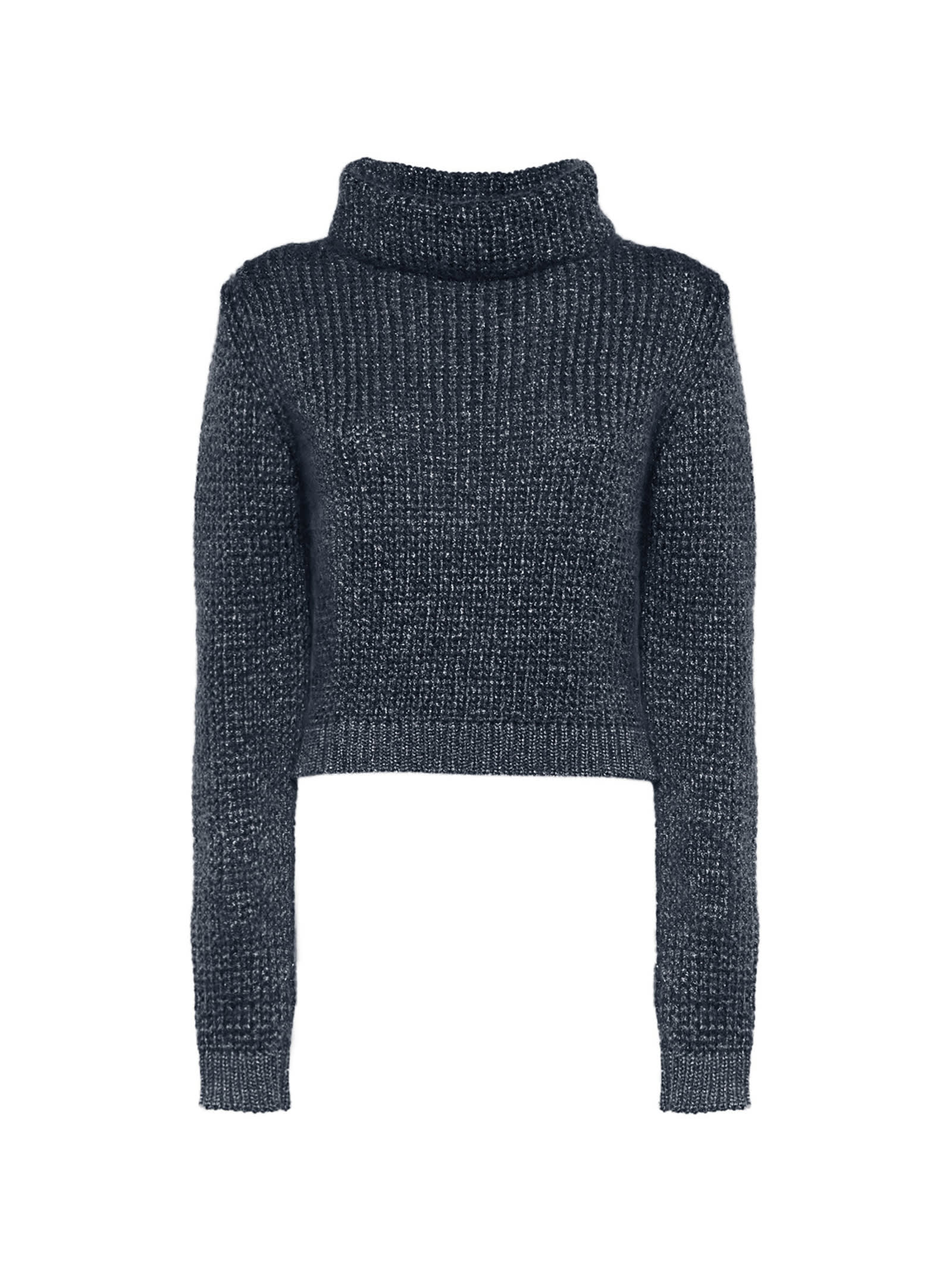 Blue Wool And Lurex-trimmed Sweater