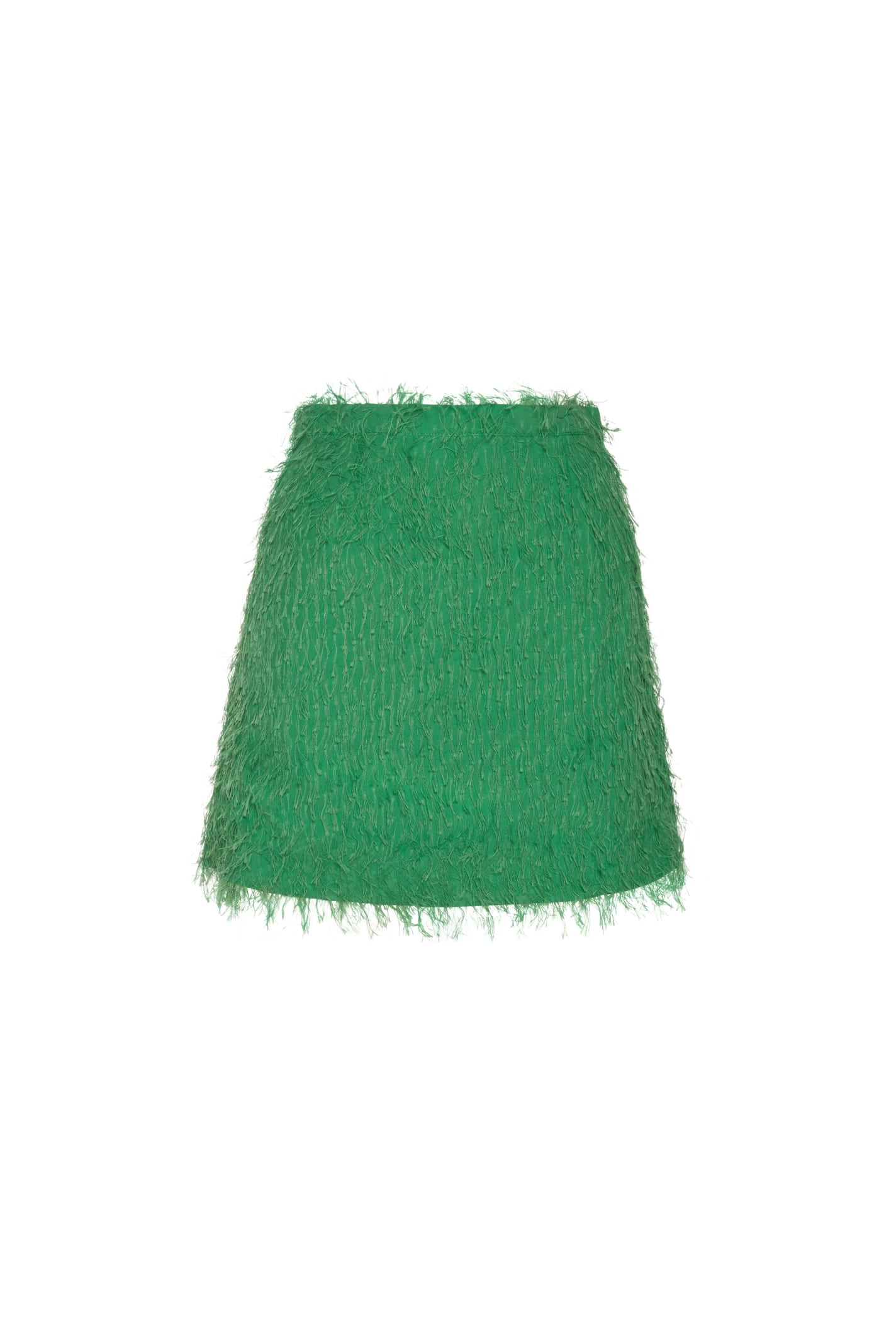 Baby Mini Skirt In Green Fil Coupe