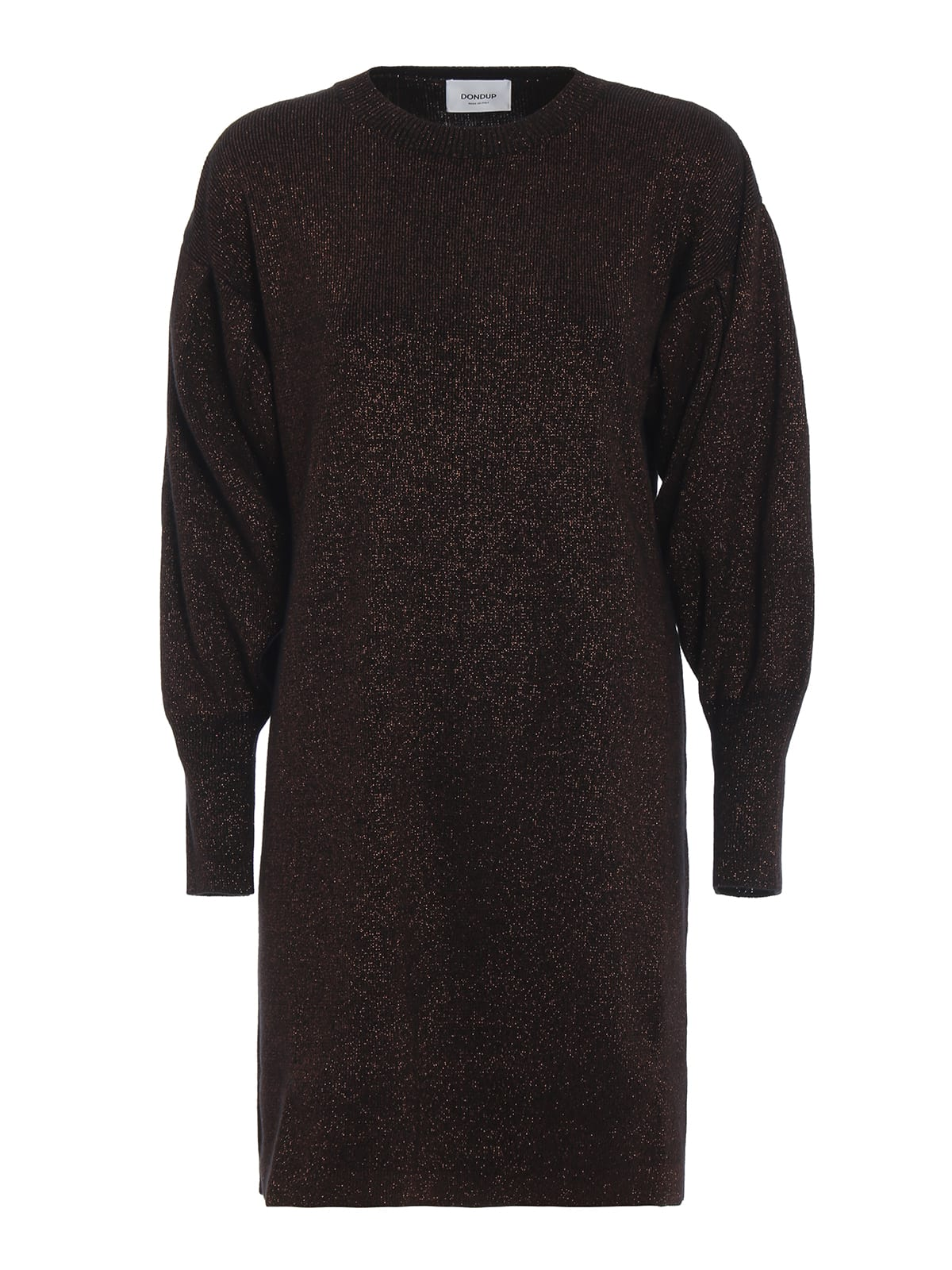 Dondup Wool Blend Lurex Knit Dress
