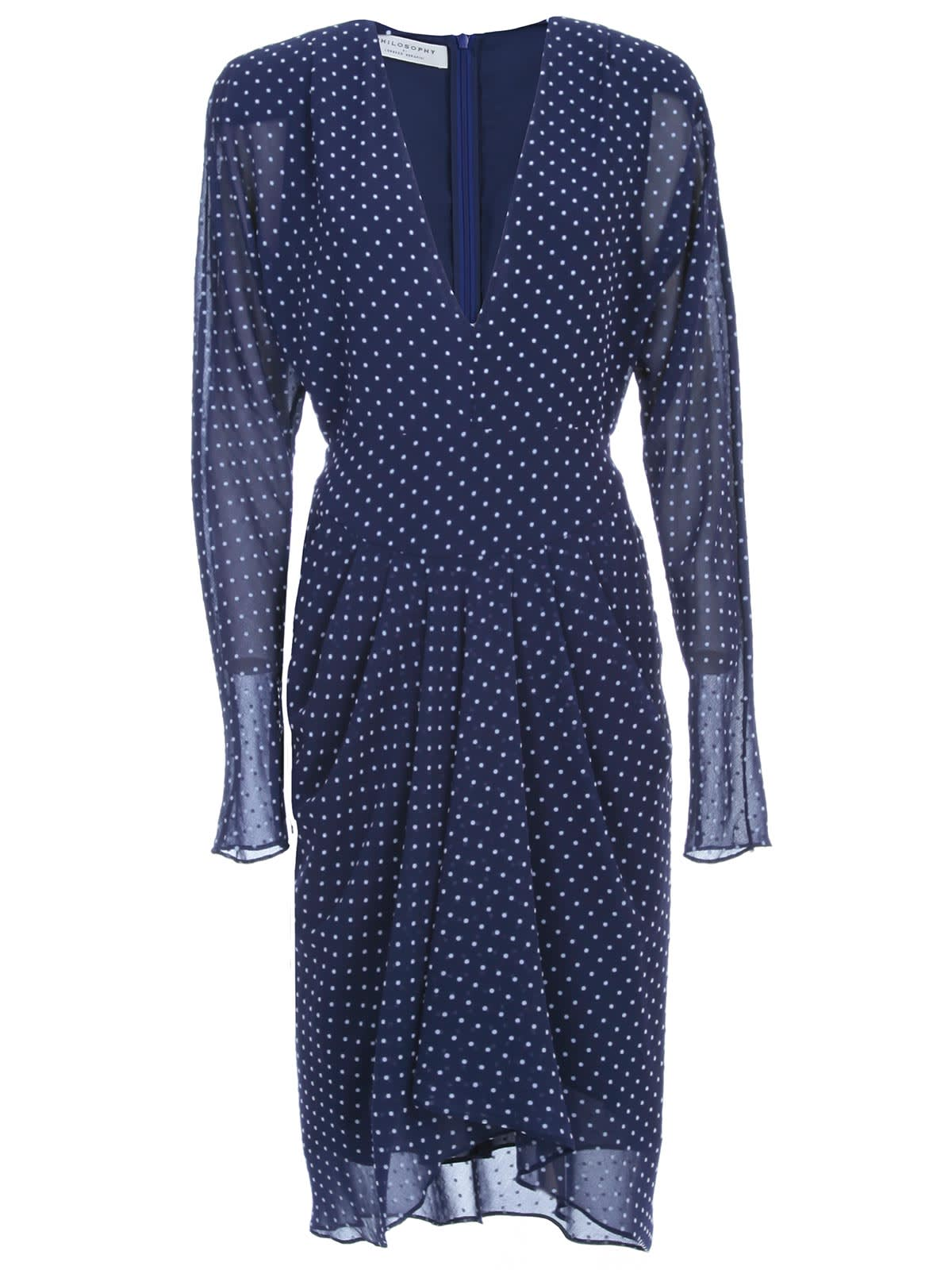 Philosophy di Lorenzo Serafini Dress L/s V Neck Voille And Pois