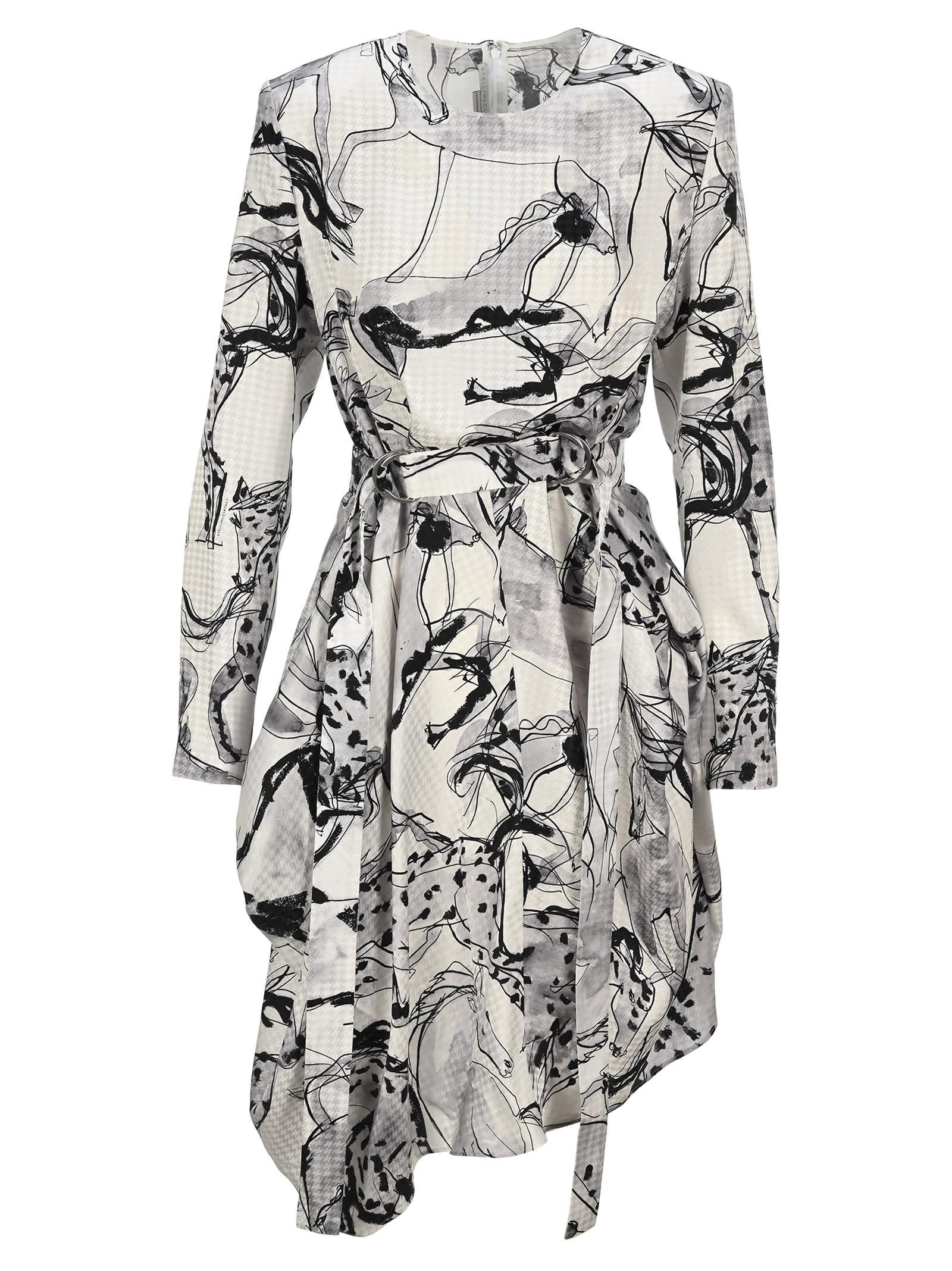 Buy Stella Mccartney Kalyn Dress With Horse Print online, shop Stella McCartney with free shipping