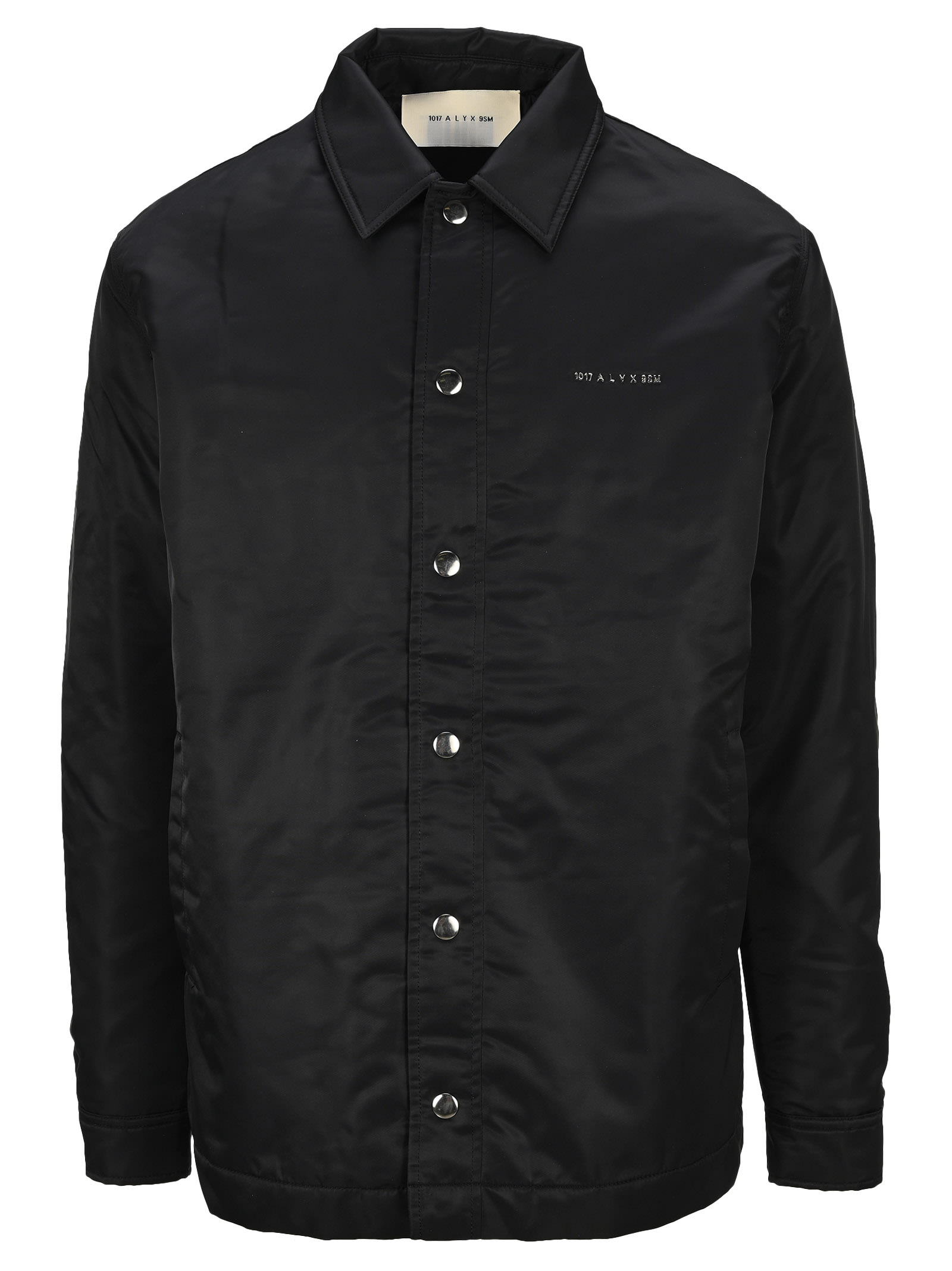 Alyx Raised Logo Shell Shirt Jacket In Black