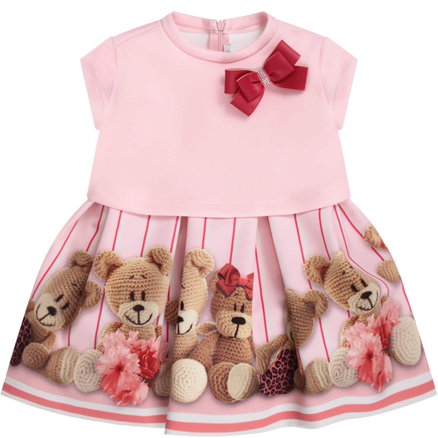 Loredana Pink Girl Dress With Colorful Bears