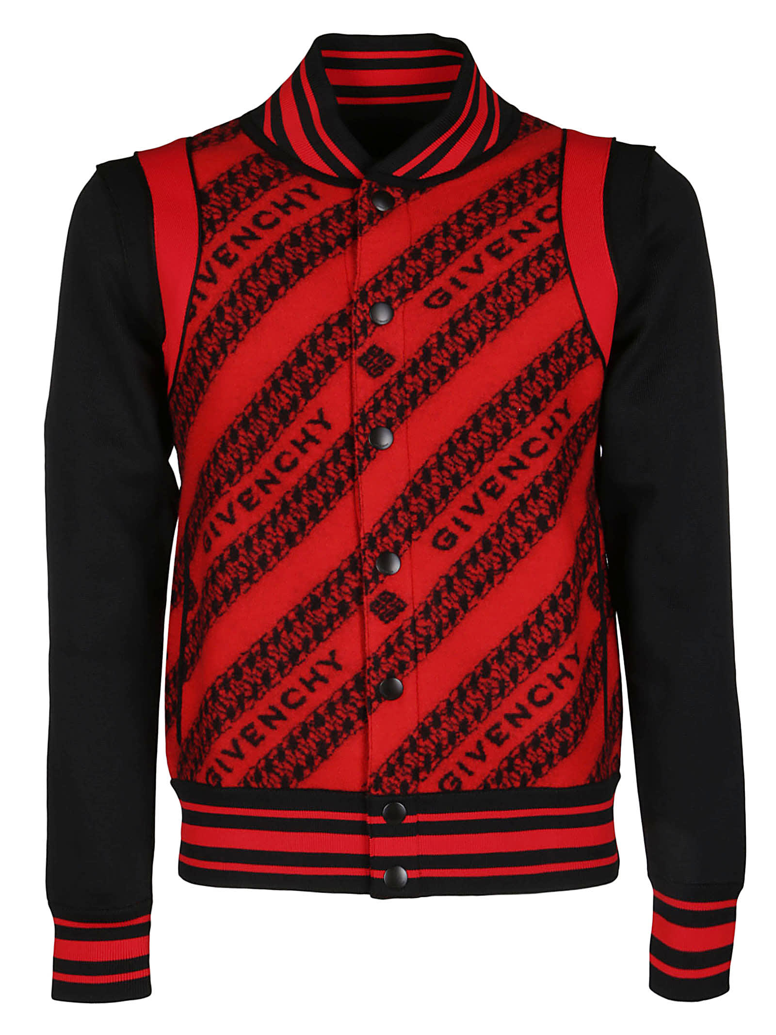 Givenchy Red And Black Wool Jacket