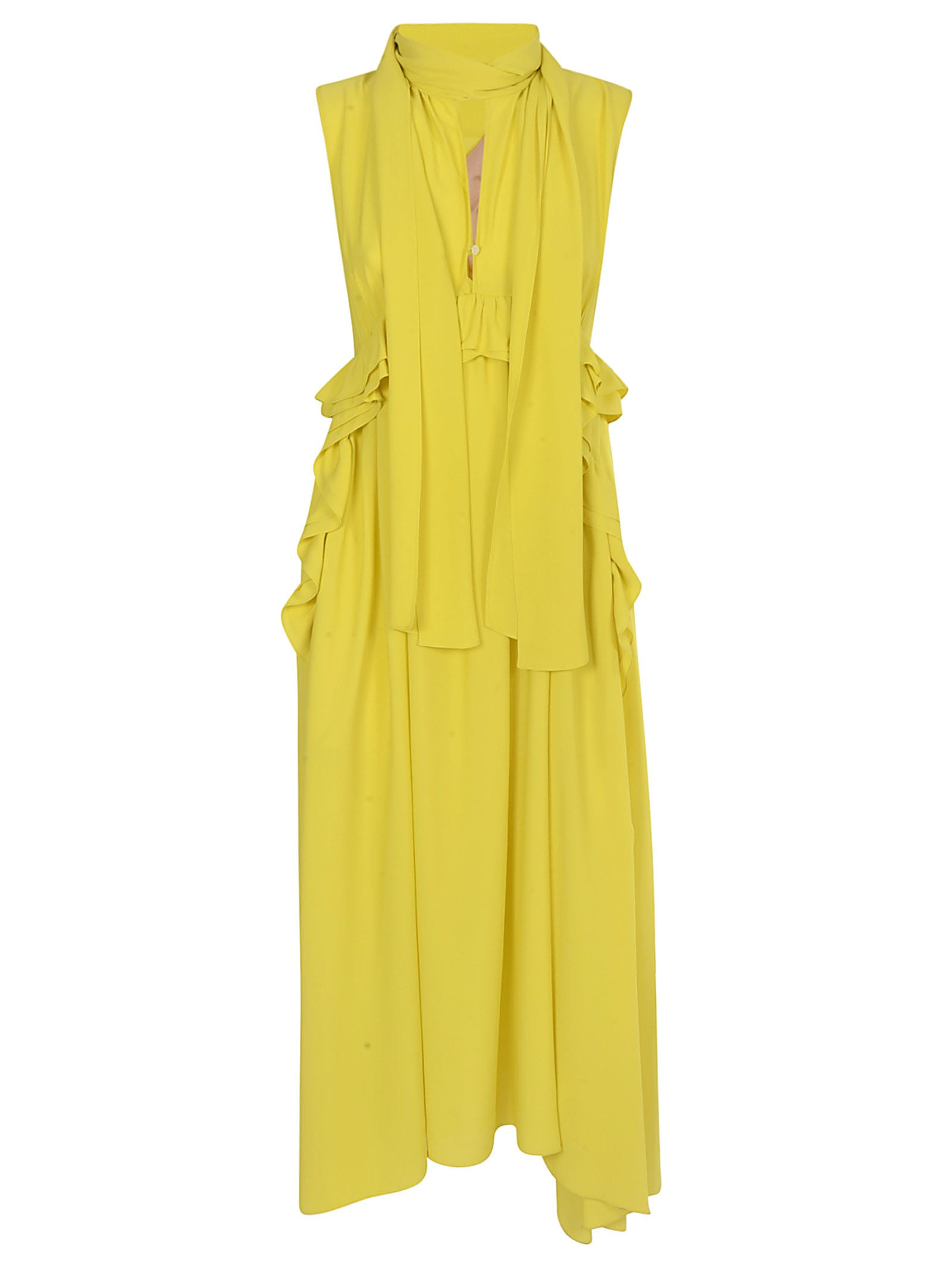 Buy N.21 Ruffle Detail Pleated Maxi Dress online, shop N.21 with free shipping