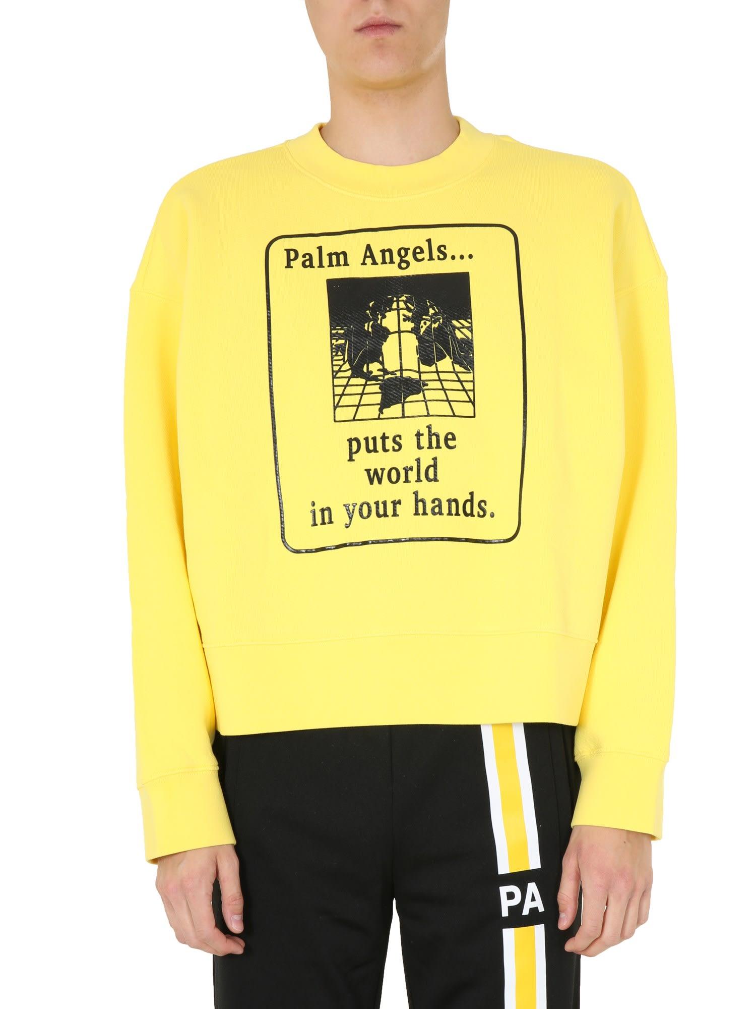 Palm Angels Round Neck Sweatshirt