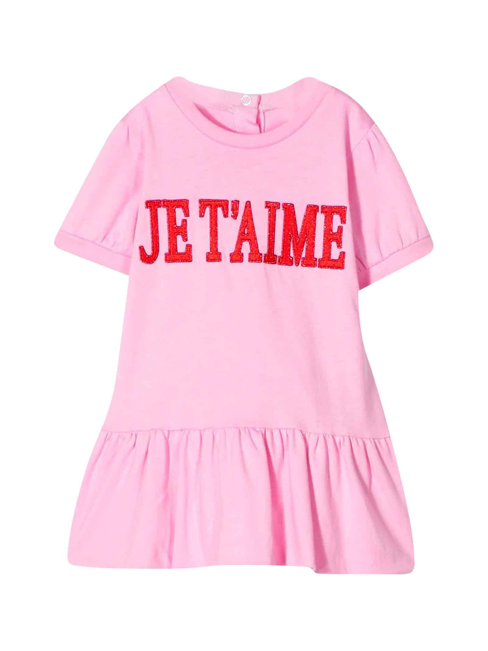 Buy Alberta Ferretti Pink Dress With Press online, shop Alberta Ferretti with free shipping