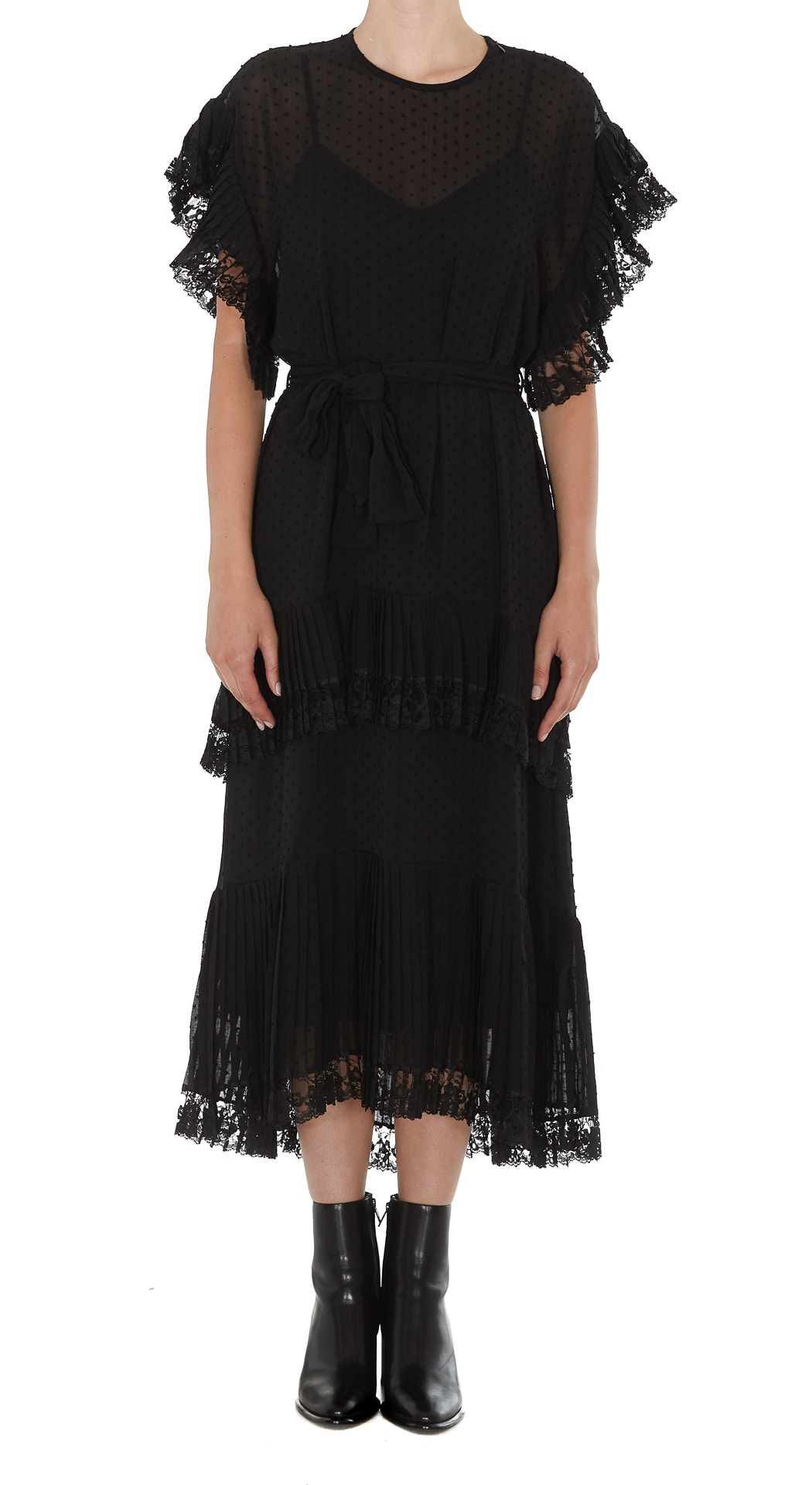 Zimmermann Long Pleated Dress