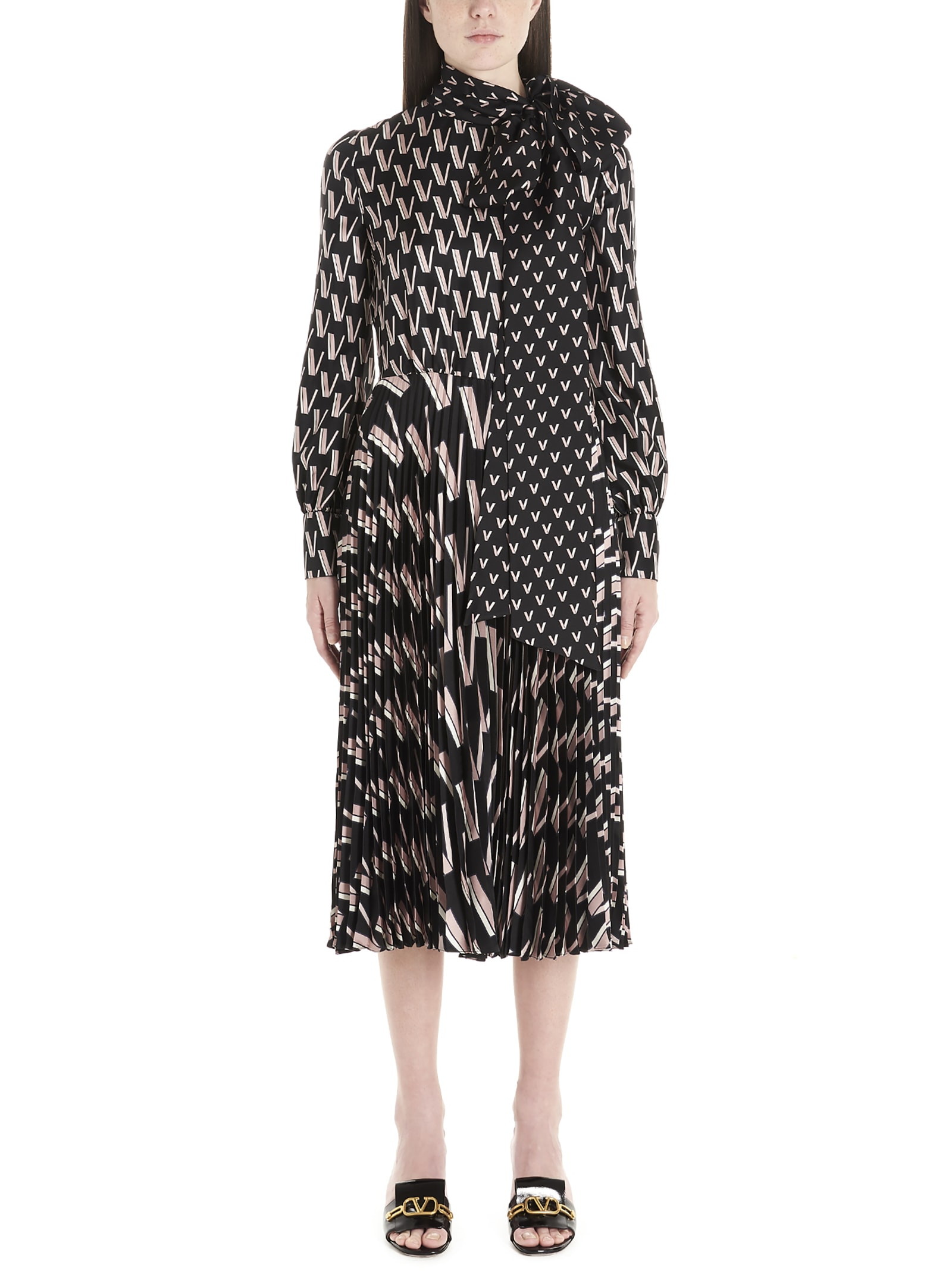 Buy Valentino v Dress online, shop Valentino with free shipping