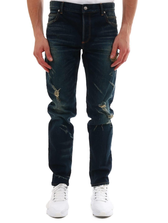 Balmain Tear Jeans