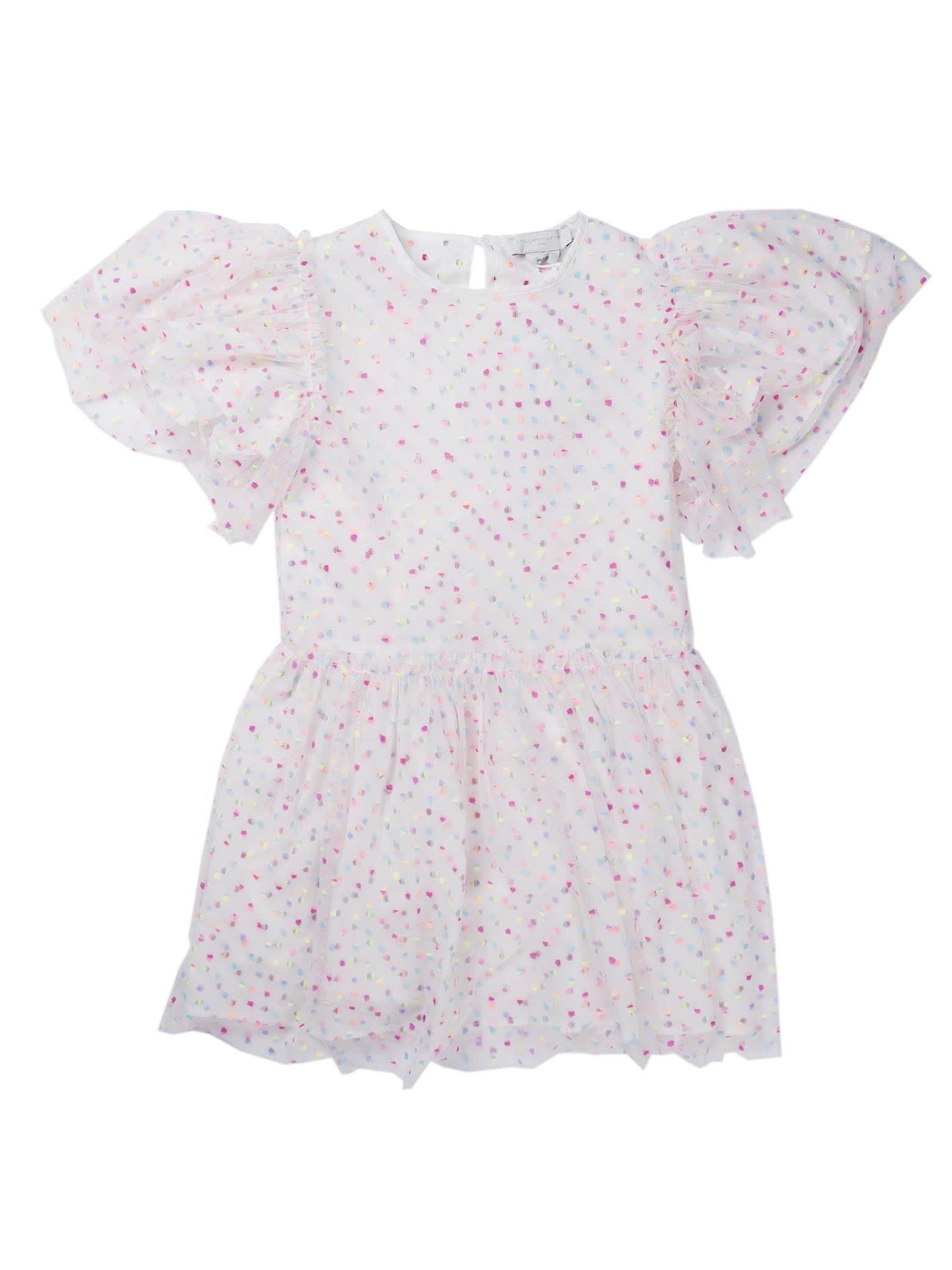 Buy Stella McCartney Kids Embro Dots Tulle Dress online, shop Stella McCartney Kids with free shipping