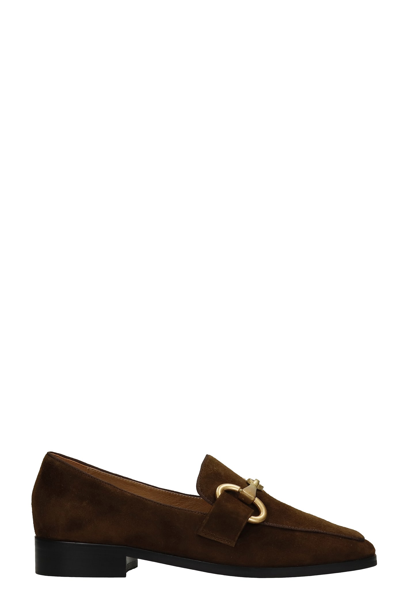 Loafers In Brown Suede
