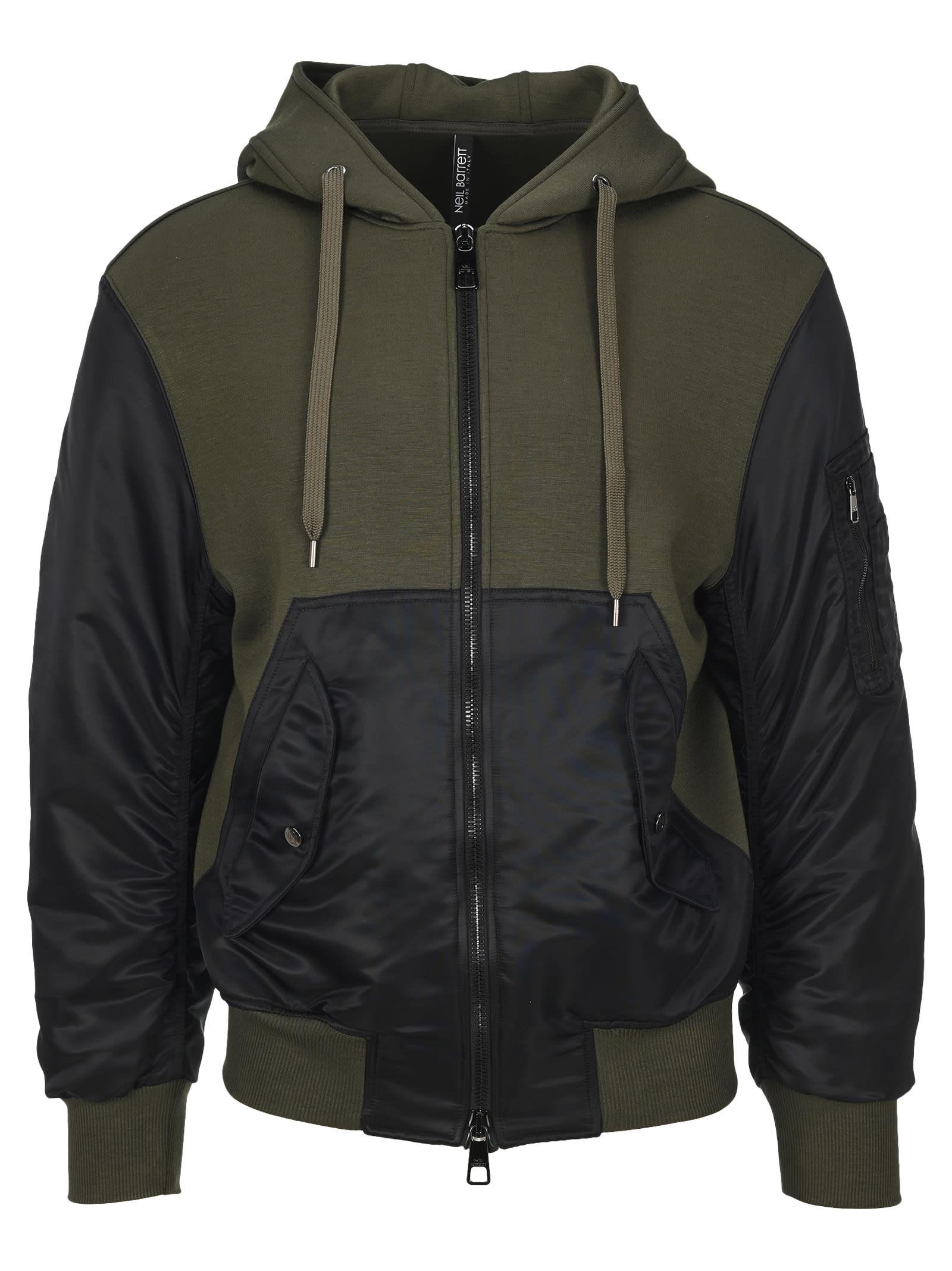 Neil Barrett Paneled Hooded Jacket