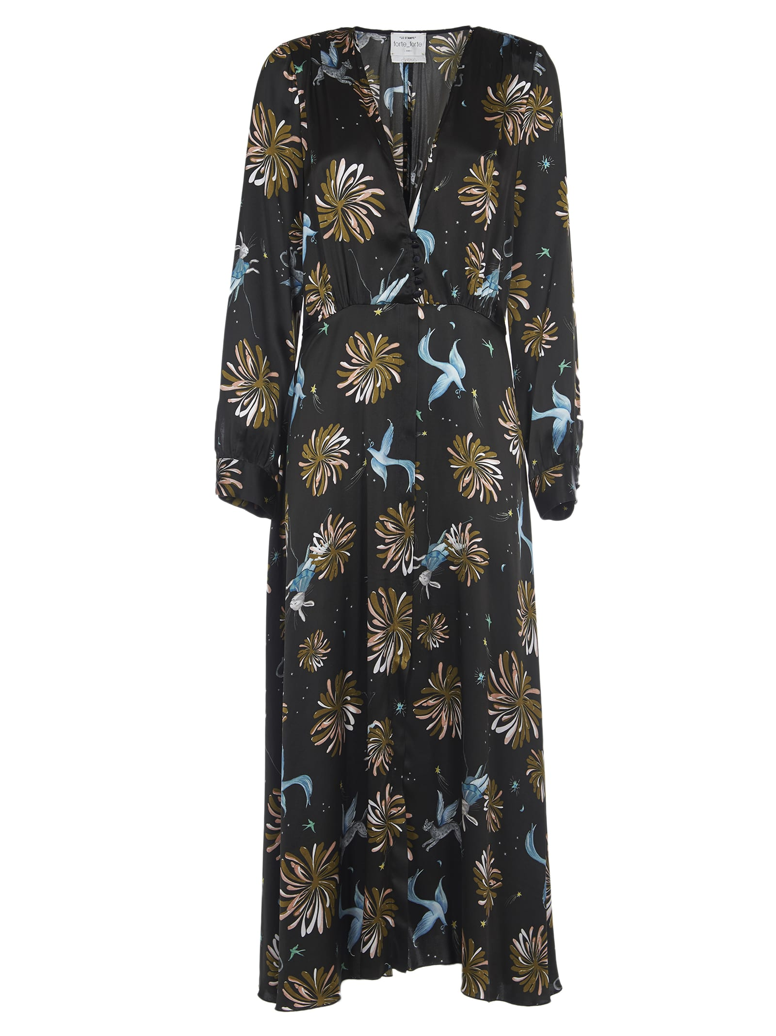 Forte Forte Long Dress With Floral Print