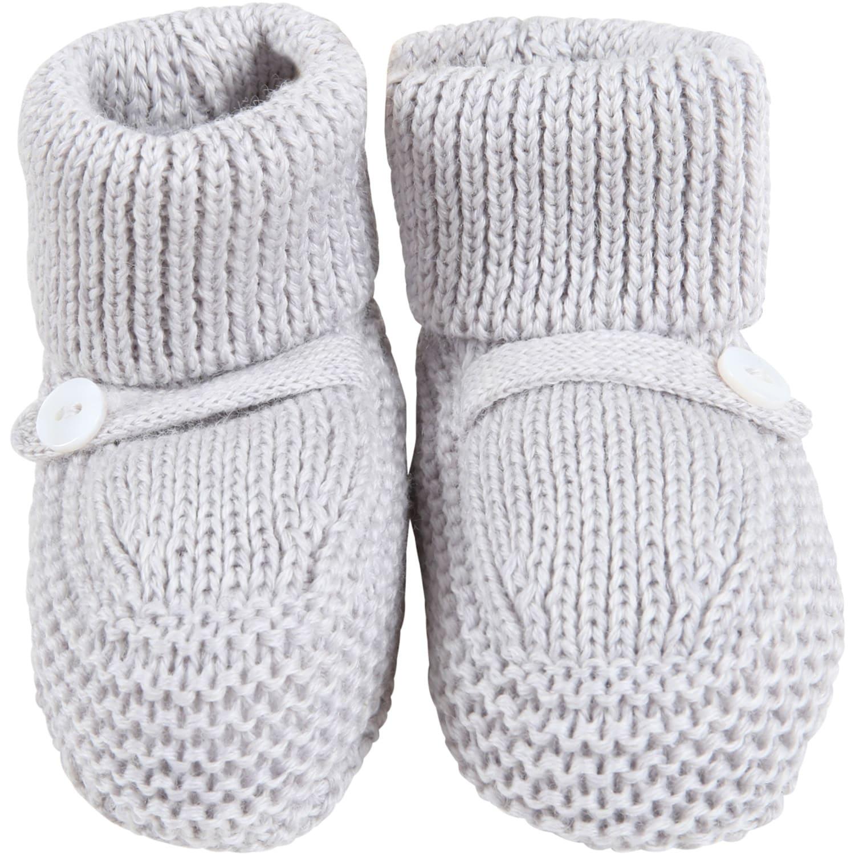 Gray Baby-bootee For Babykids